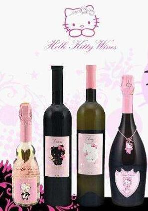 为迎接圣诞节,凯蒂猫发售新款葡萄酒产品