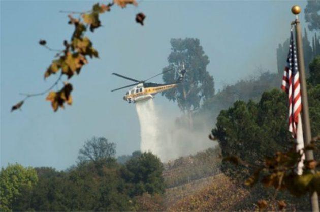 森林大火再度袭击加州南部地区