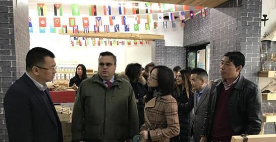 意大利外商考察团到访考察青田县葡萄酒市场
