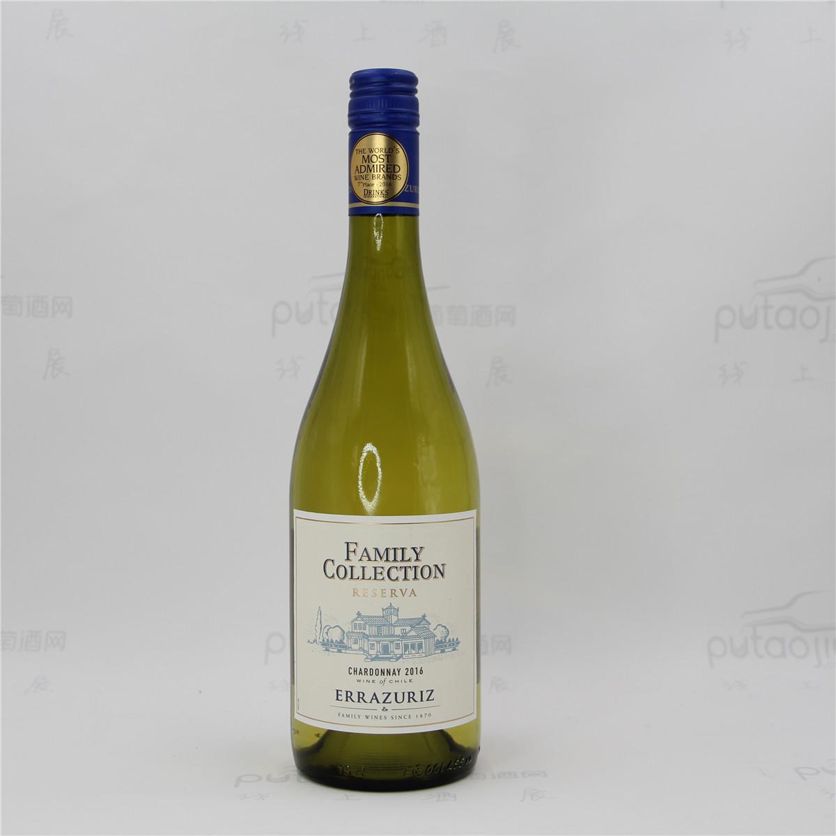 智利阿空加瓜谷伊拉苏酒庄霞多丽家族收藏干白葡萄酒