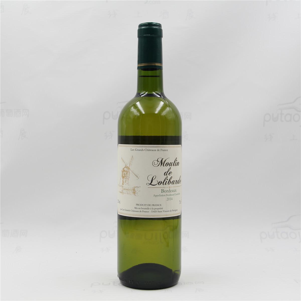 法国波尔多诺让酒庄长相思赛美蓉风车城堡AOC干白葡萄酒