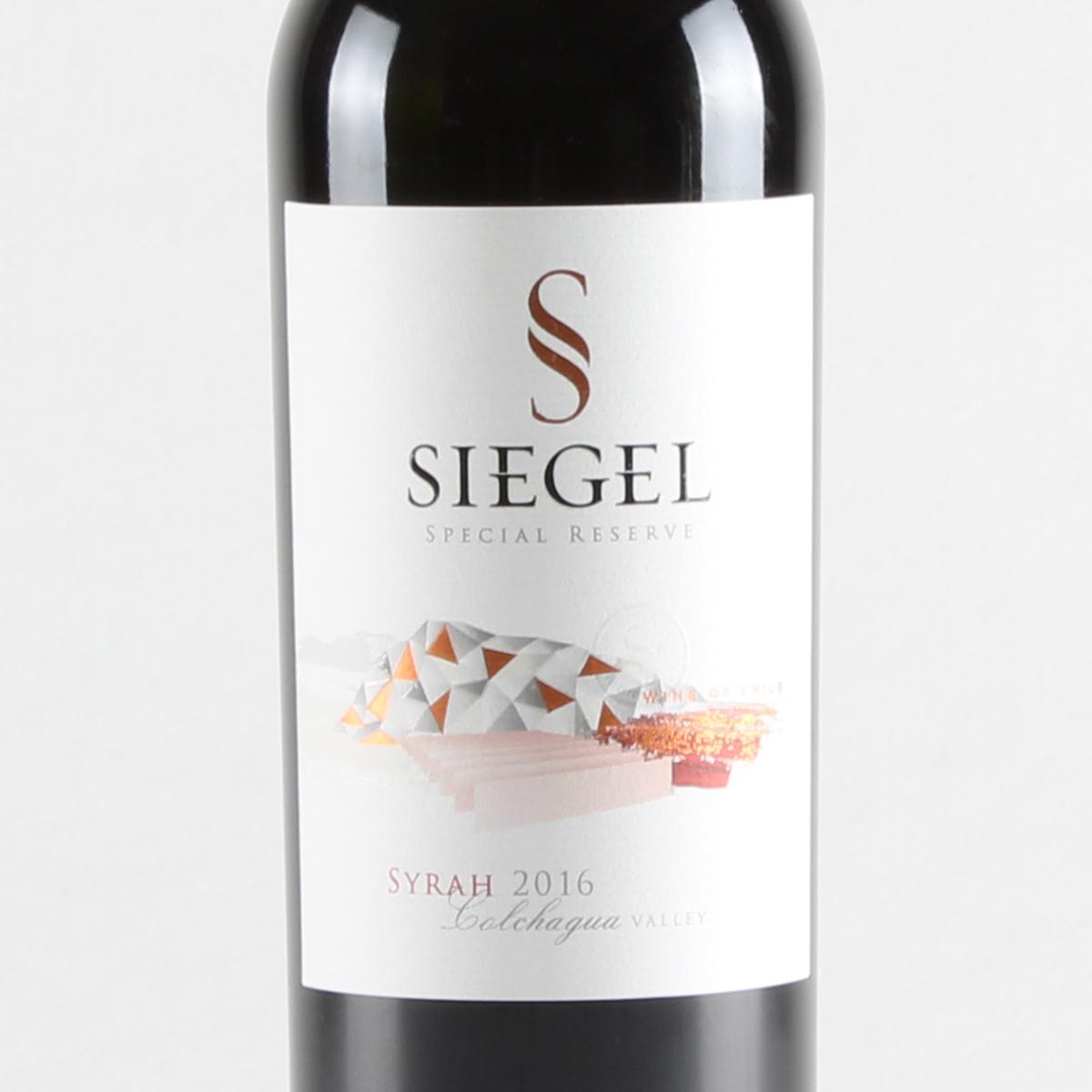 智利空加瓜谷西格尔酒庄西拉珍藏干红葡萄酒