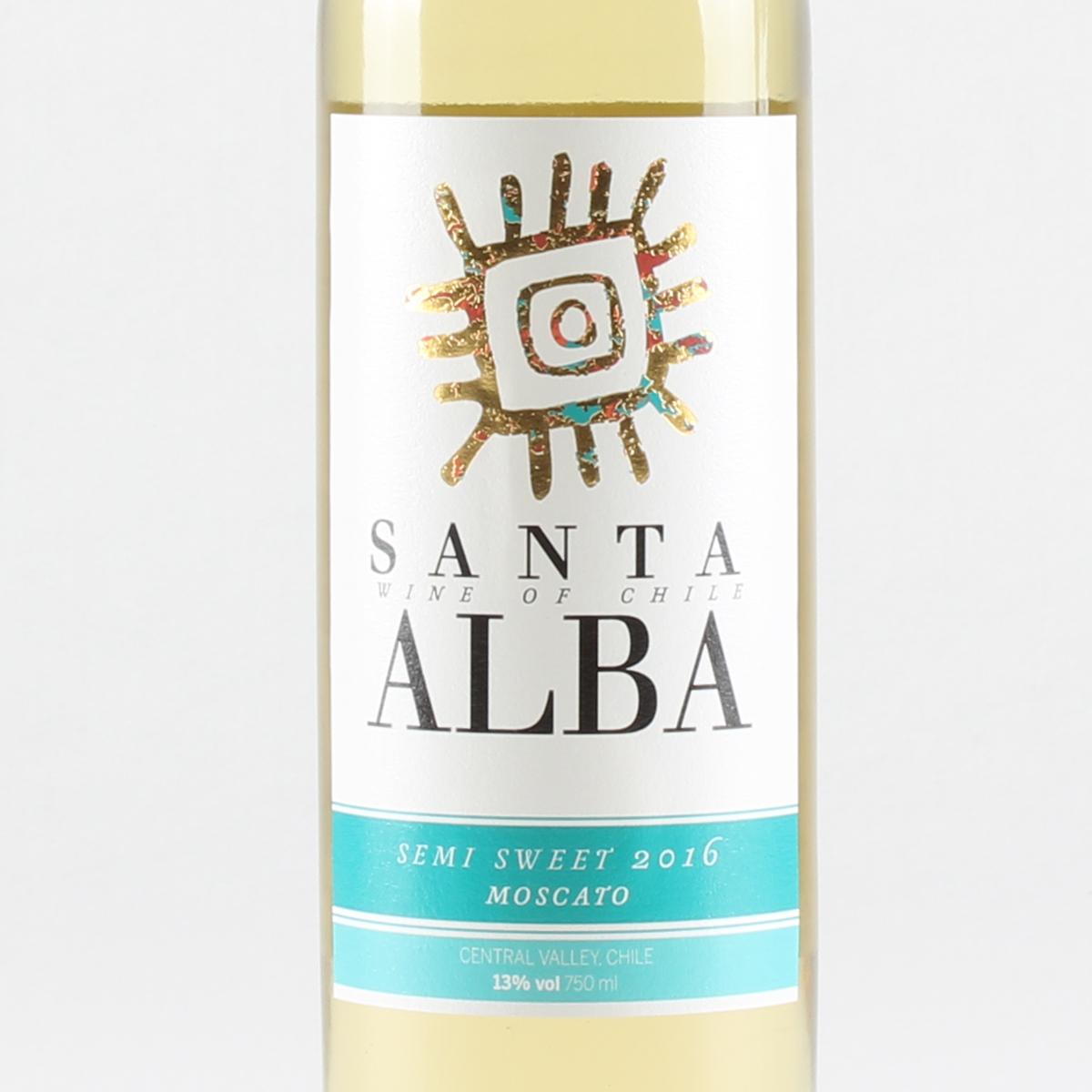 智利库里科谷香树酒庄圣塔莫斯卡托半甜白葡萄酒