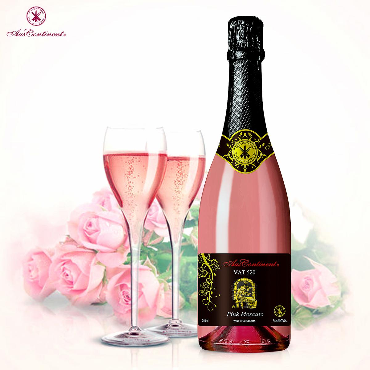 澳大利亚南澳产区澳洲大陆酒庄麝香VAT 520 莫斯卡特粉红起泡酒