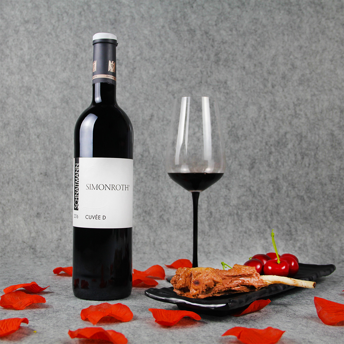 德国符腾堡莱纳施纳特门酒庄混酿西蒙罗斯园特酿D VDP一级园干红葡萄酒