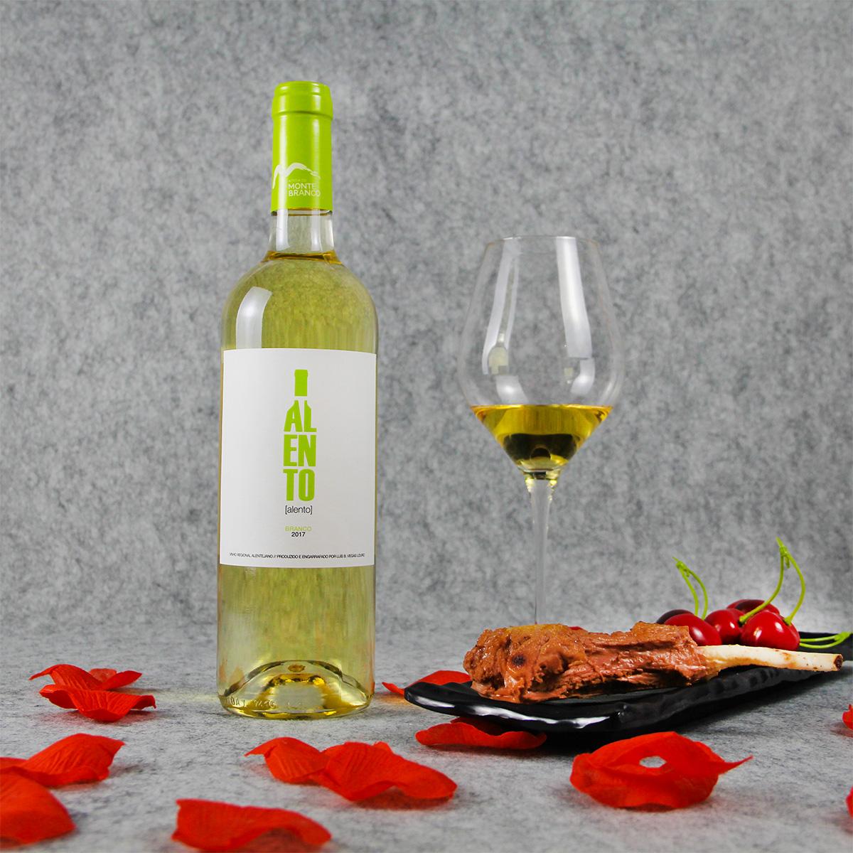 葡萄牙阿连特茹蒙特布兰科酒庄蓝图混酿干白葡萄酒