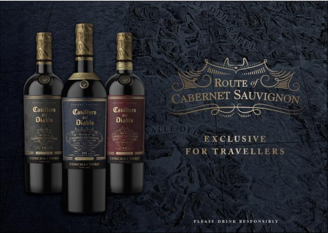 智利干露酒庄红魔鬼赤霞珠葡萄酒将独家出现在新加坡廉价航空公司酷航上