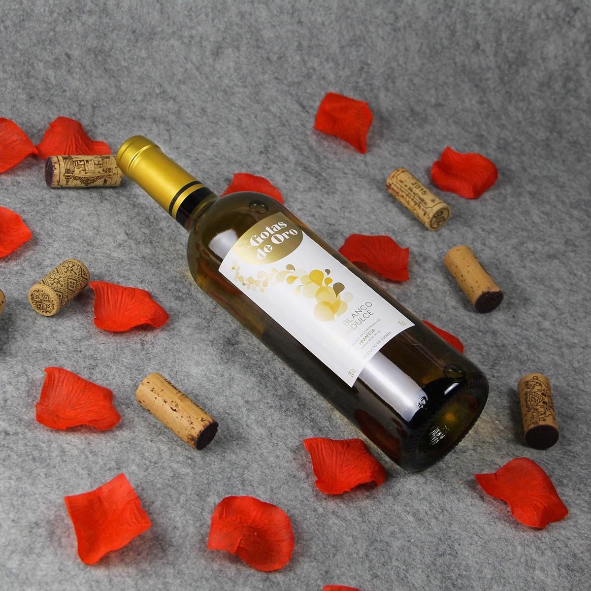 西班牙金滴半甜白葡萄酒