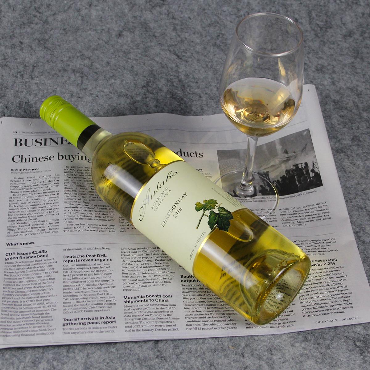 澳大利亚河地萨琳娜酒庄澳莱宝霞多丽干白葡萄酒