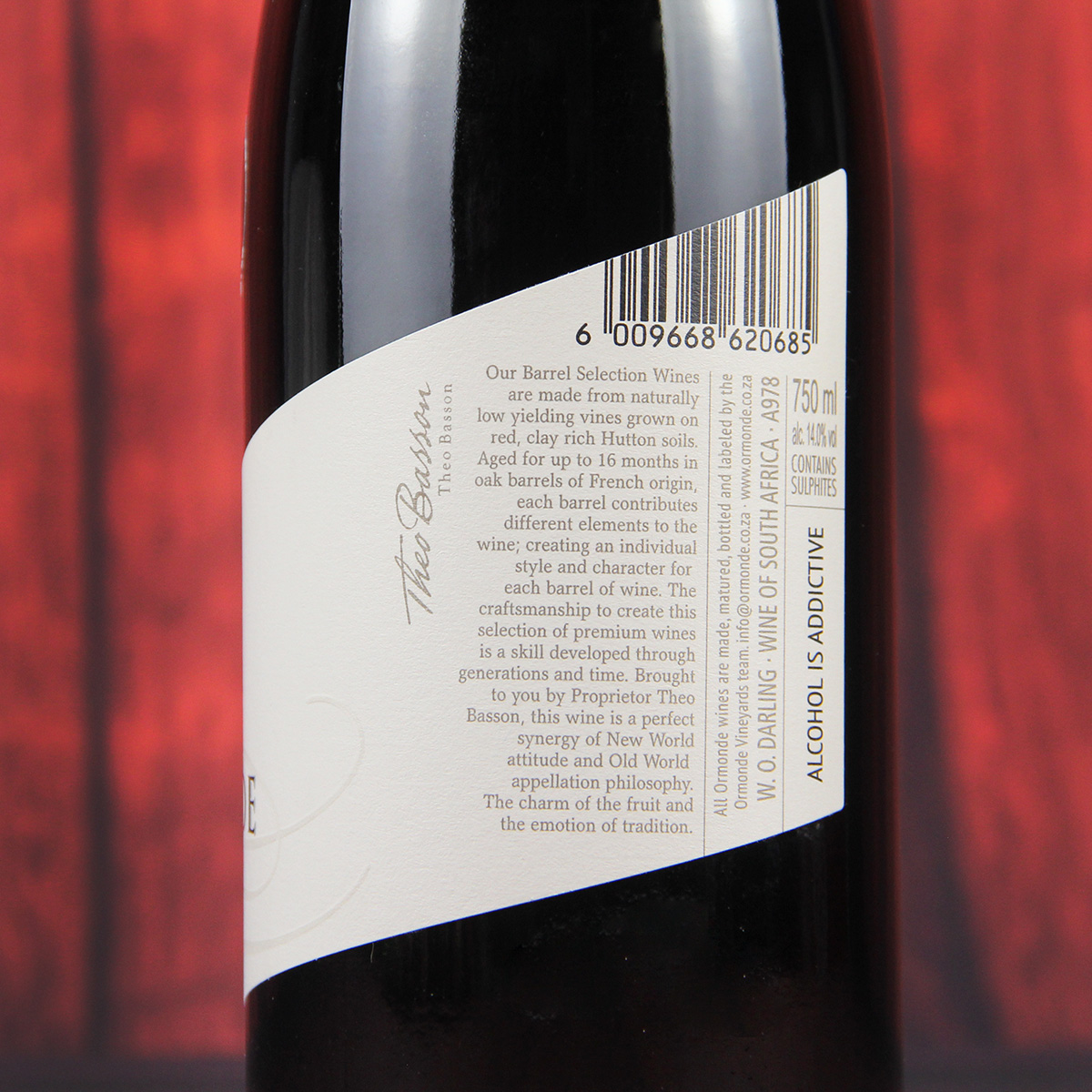 南非西开普奥曼迪酒庄设拉子W.O.干红葡萄酒
