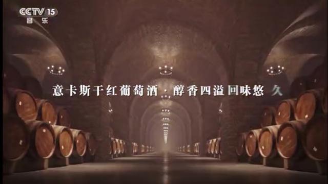 意卡斯干红葡萄酒品牌宣传片在央视播放
