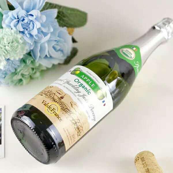 法国朗斯河畔普勒迪安产区沃迪安酒庄青苹果起泡果汁