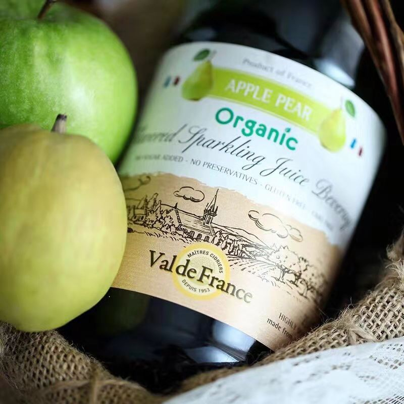 法国朗斯河畔普勒迪安产区沃迪安酒庄香梨起泡果汁