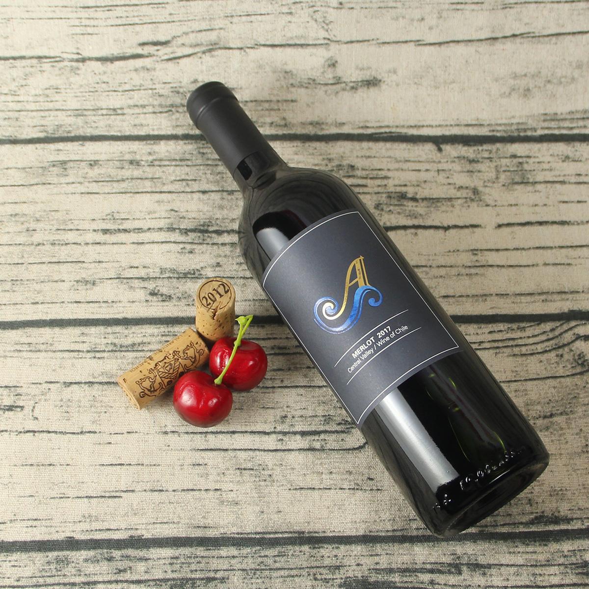 智利中央山谷苏安美乐红葡萄酒红酒