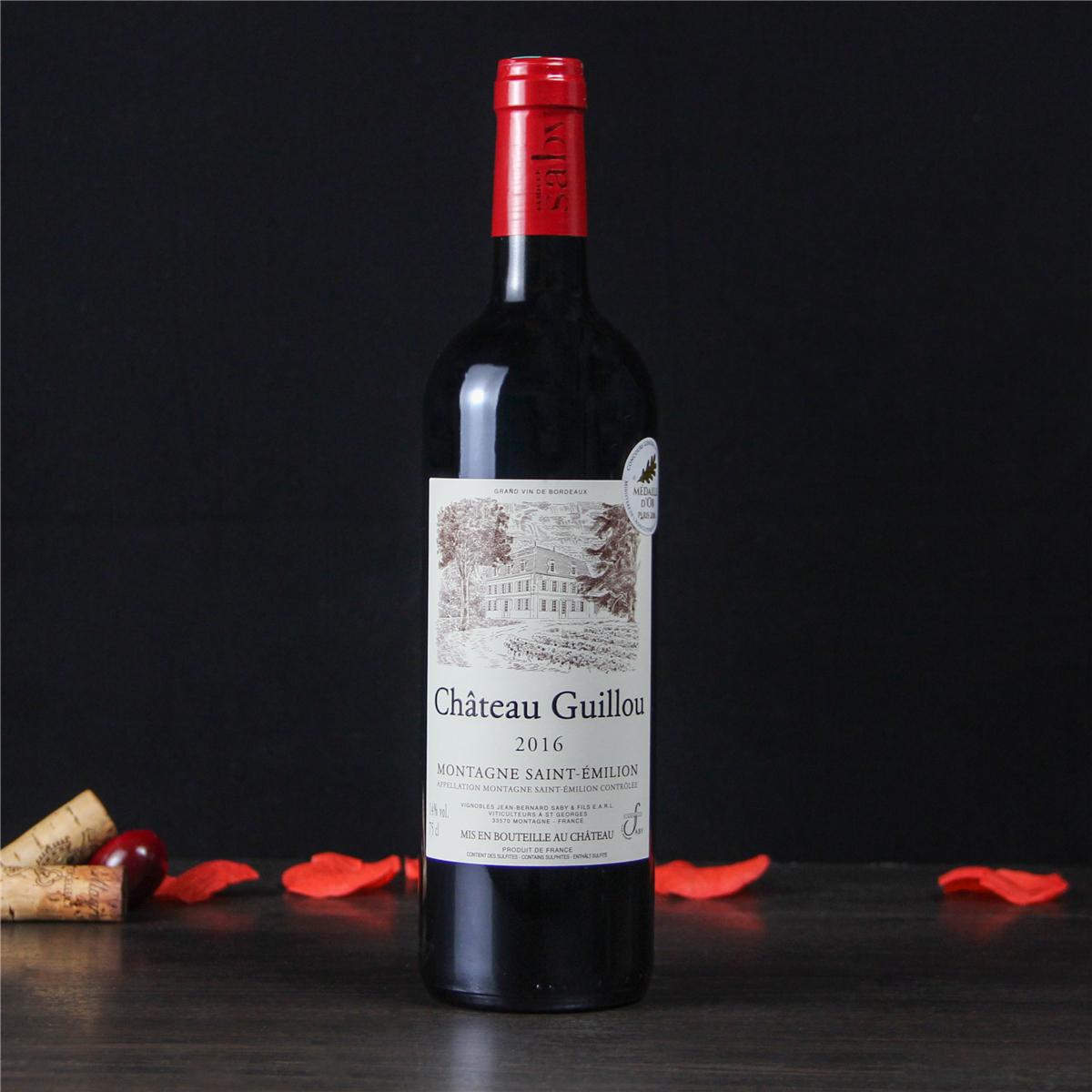 长隆 团购_法国波尔多圣埃美隆古洛城堡干红葡葡酒红酒