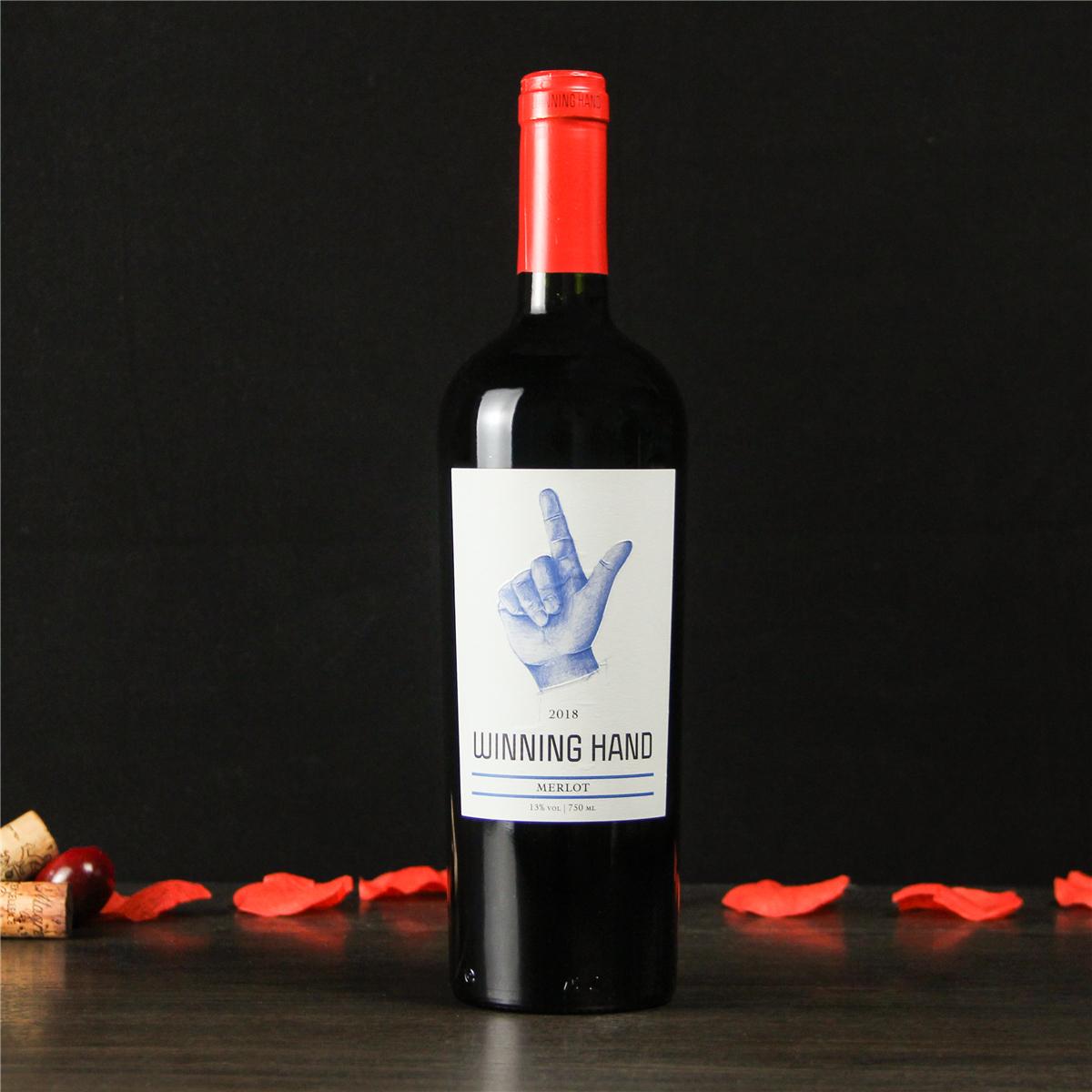 智利库里科谷凯旋之手精选梅洛干红葡萄酒红酒