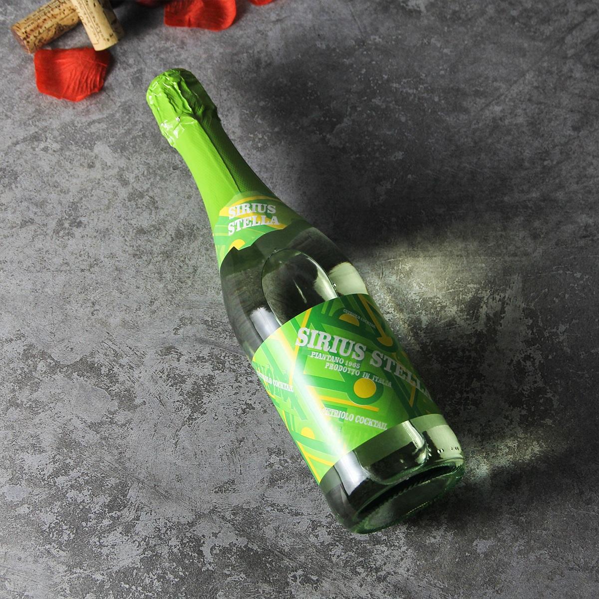 意大利皮埃蒙特万多酒庄天狼星青瓜起泡葡萄鸡尾酒