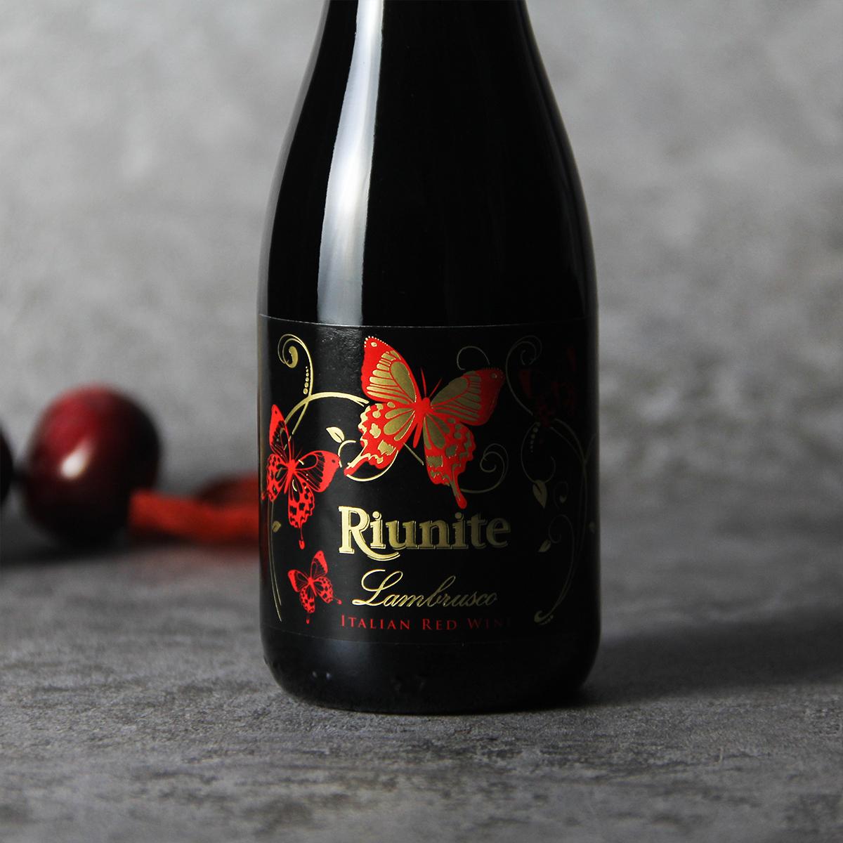意大利艾米利亚优尼特蓝布鲁斯科低泡红葡萄酒
