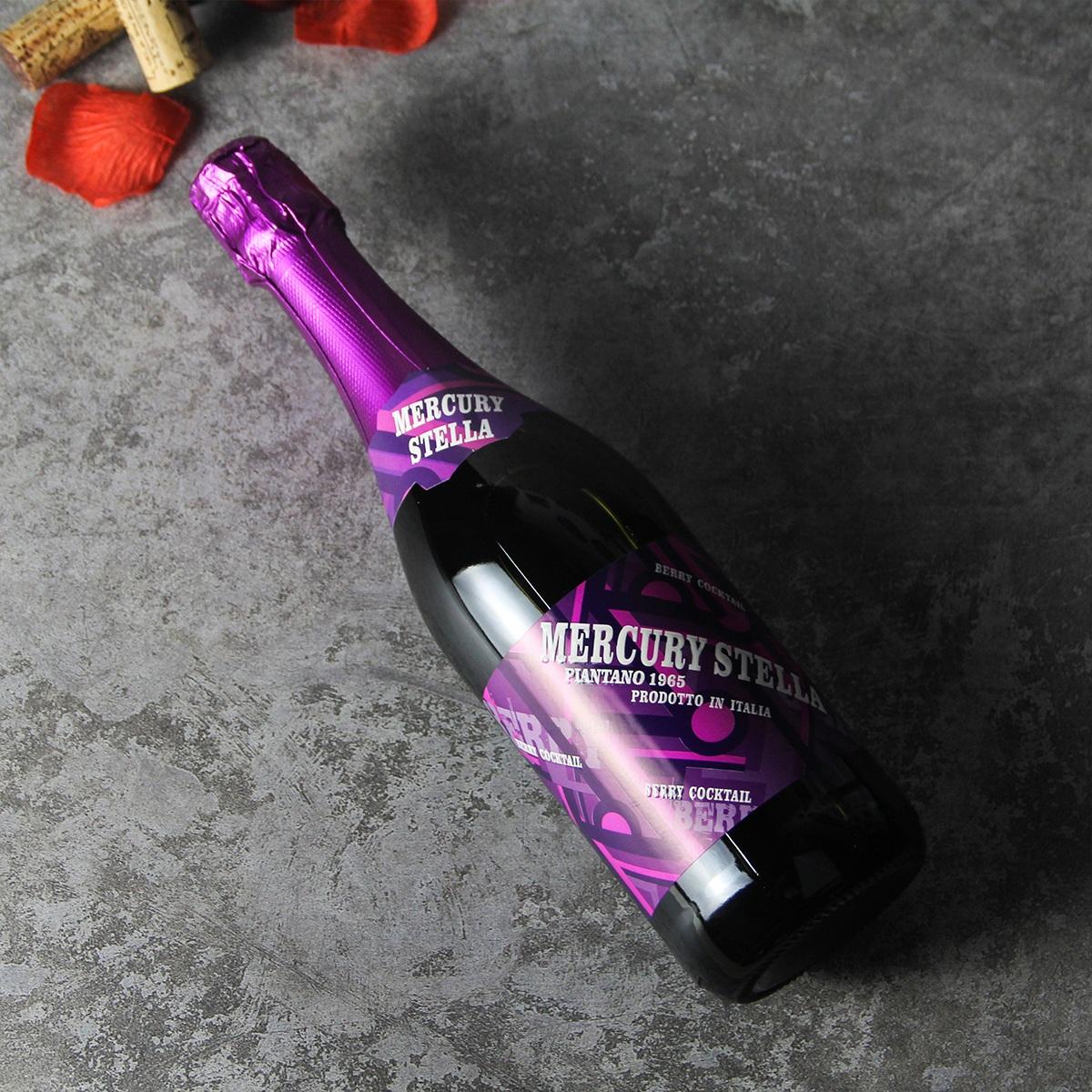 意大利水星黑莓起泡葡萄鸡尾酒