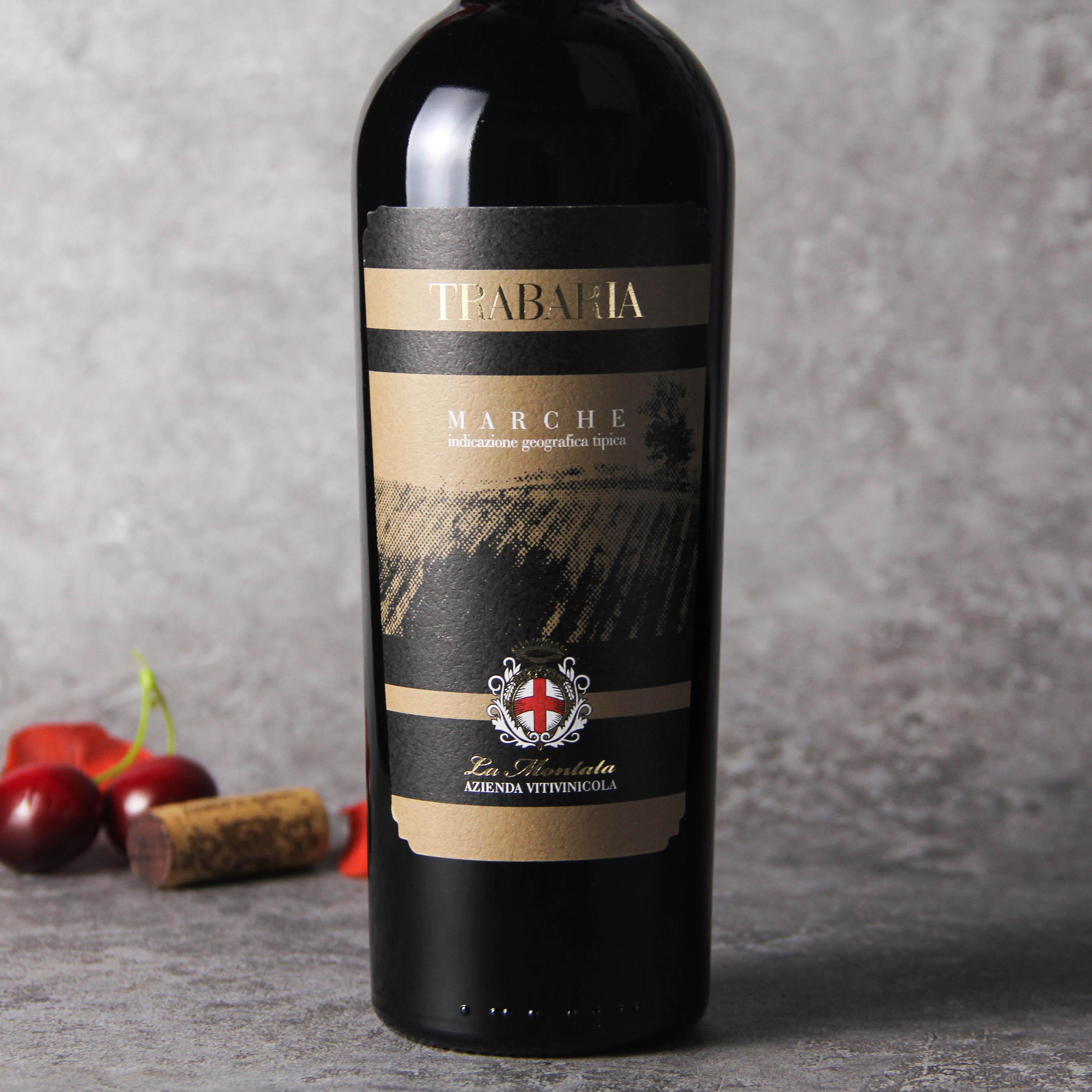 意大利马尔凯法定产区特巴利亚红葡萄酒红酒