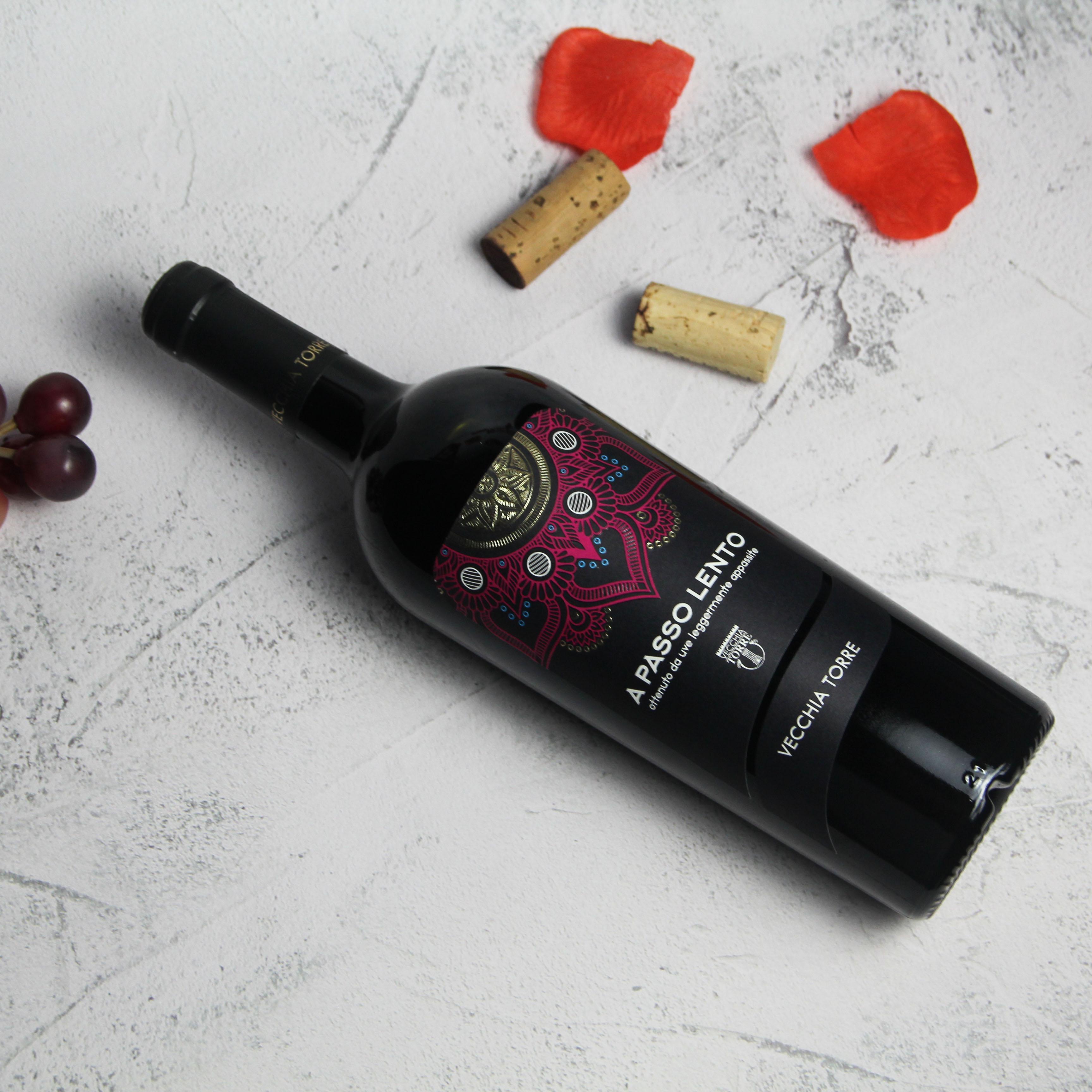 意大利普里亚老塔酒庄慢摇风干葡萄酒红酒