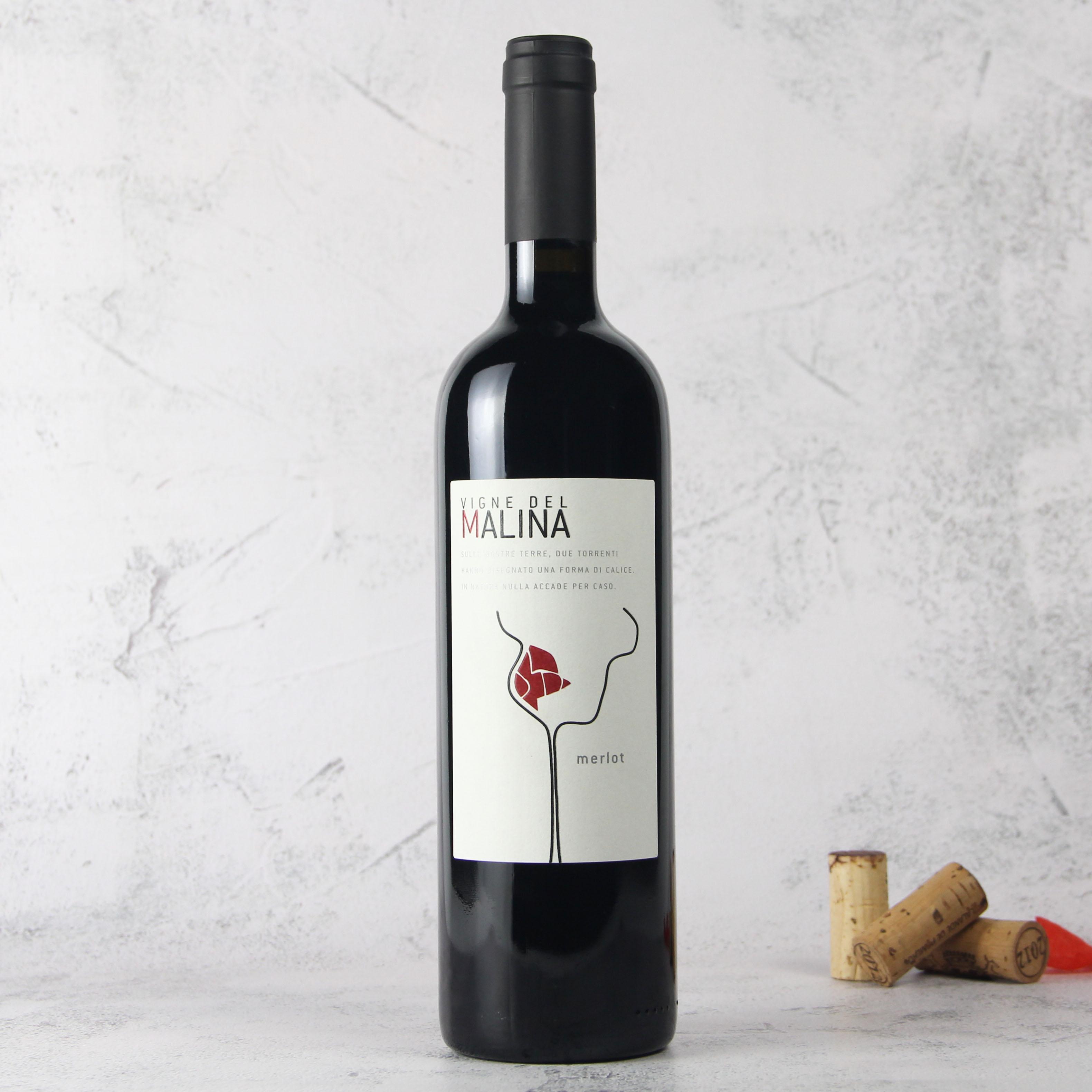 意大利弗留利梅洛干红葡萄酒红酒
