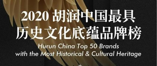 张裕公司登上《2020胡润中国最具历史文化底蕴品牌榜》