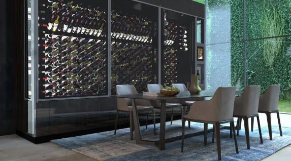 """葡萄酒收藏系统WineCab推出新型豪华葡萄酒墙,配有机械手臂和""""虚拟侍酒师"""