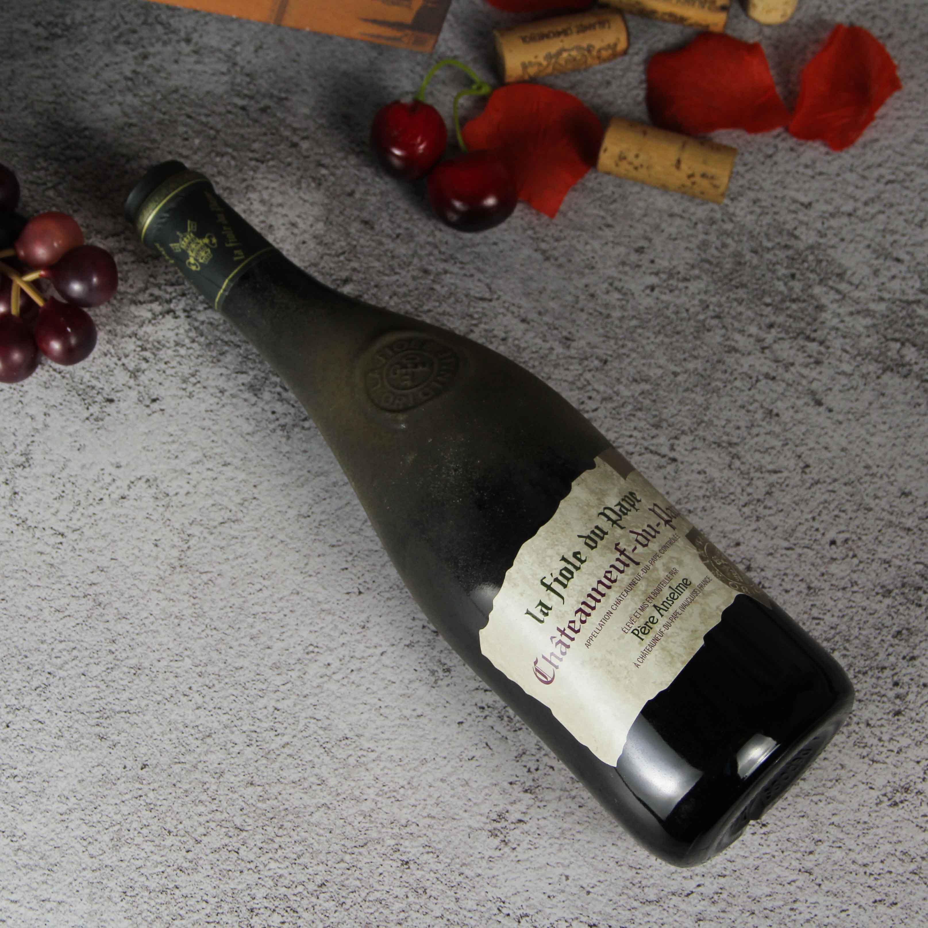 法国夫华 教皇新堡(歪脖子)红葡萄酒红酒