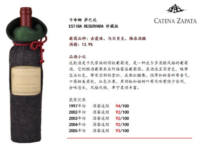 卡帝娜酒庄:深度探讨马尔贝克的多样性创新
