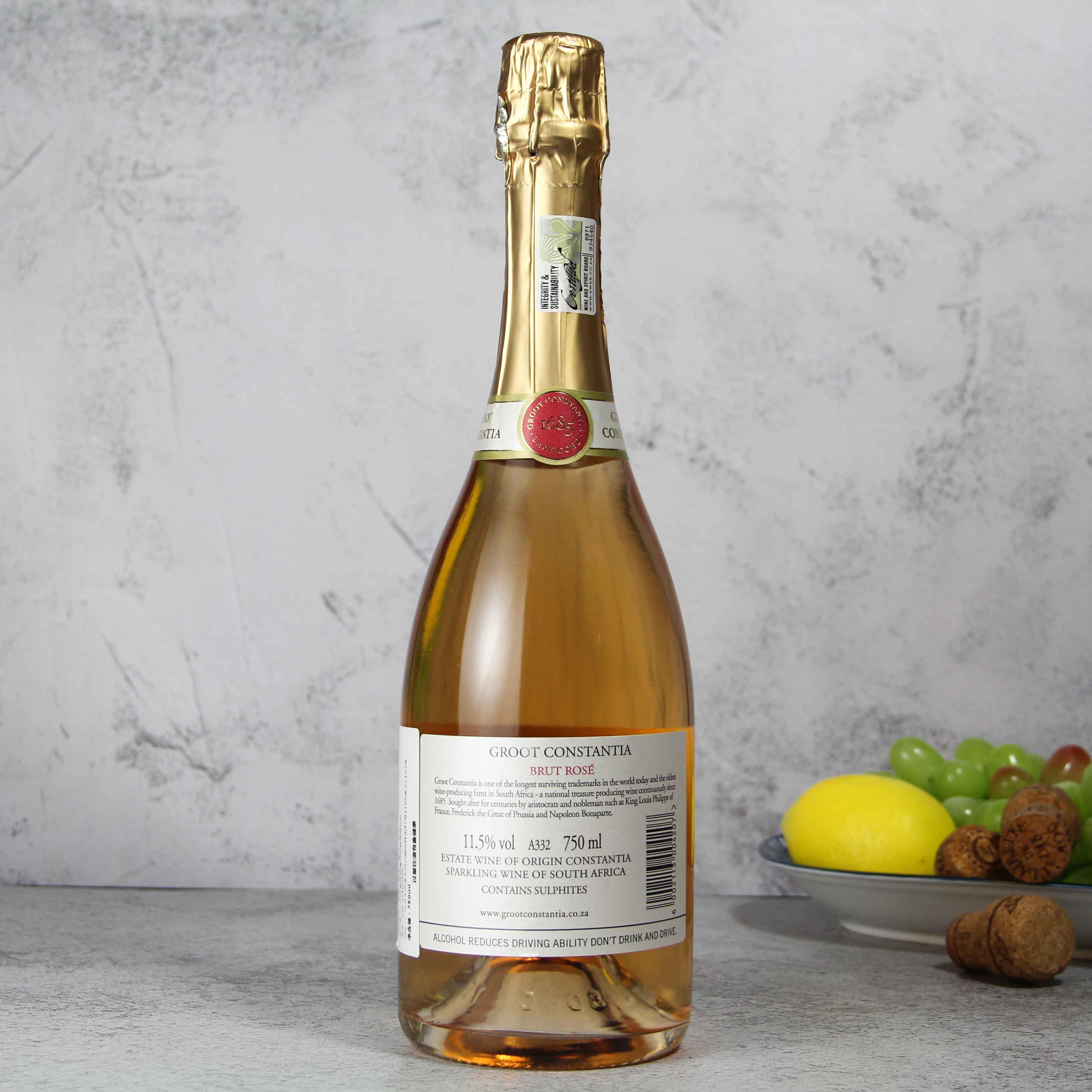 南非开普敦古特·康斯坦提亚酒庄气泡之吻帕丽罗起泡酒