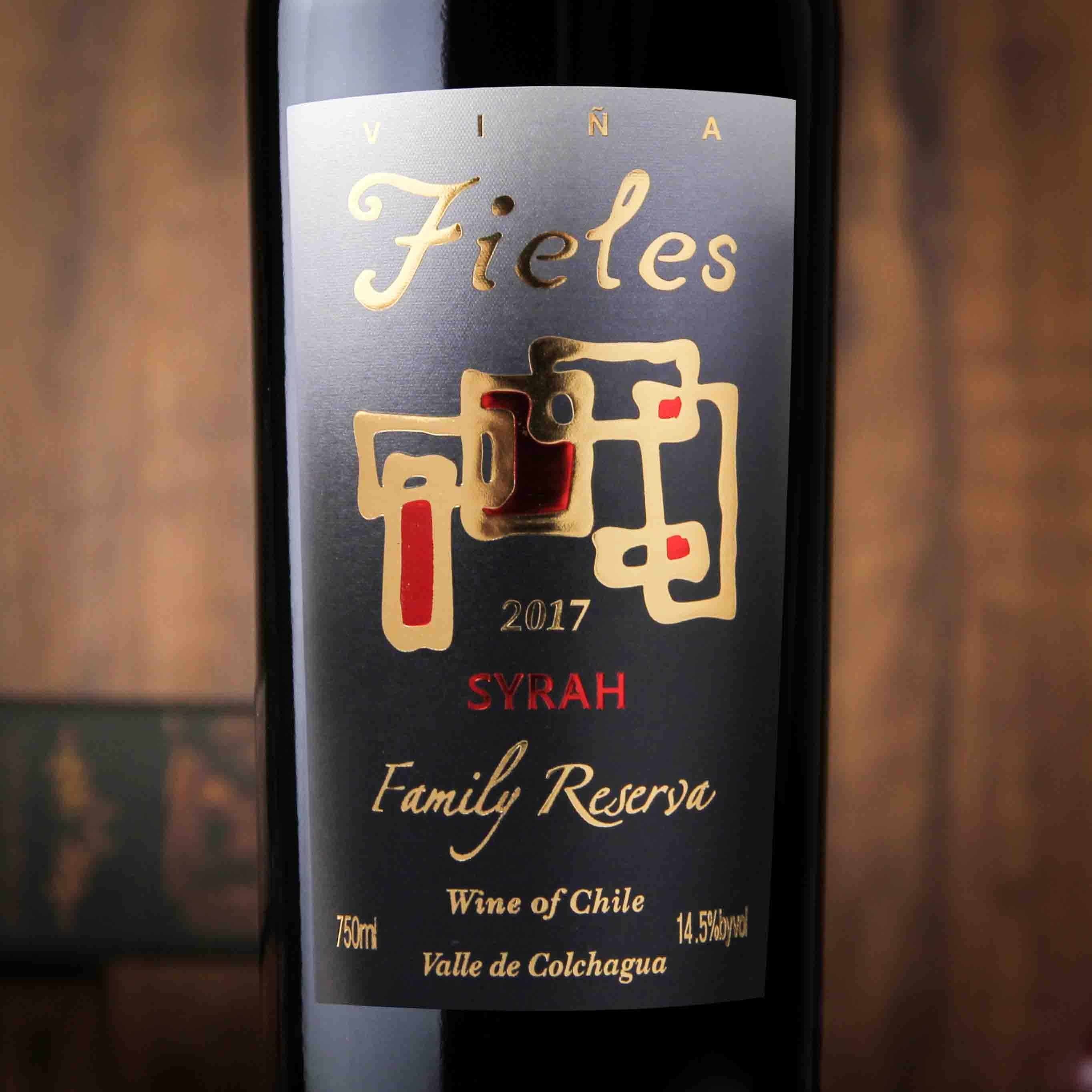 智利科尓查瓜谷菲利斯家族珍藏西拉红葡萄酒