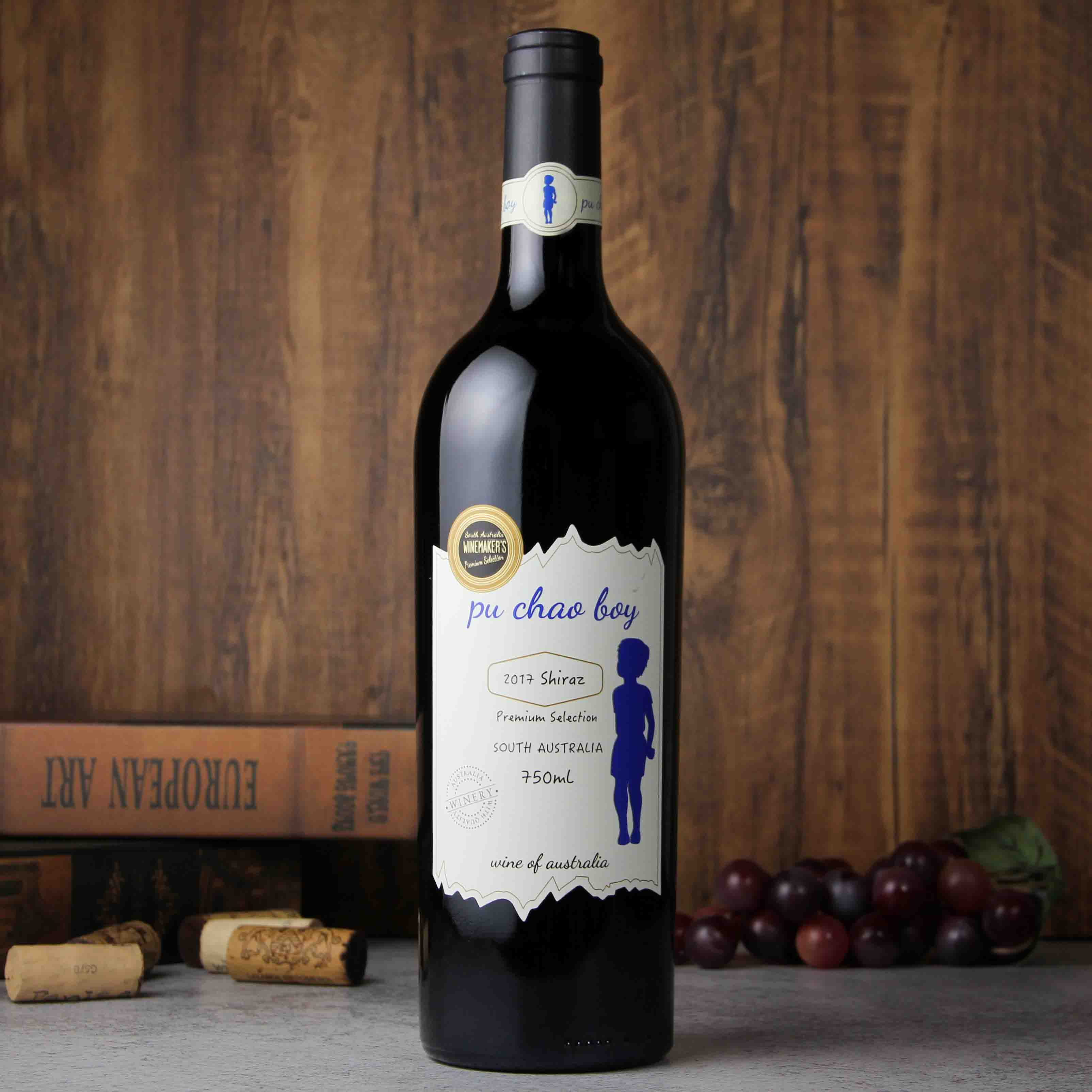 澳大利亚南澳老男孩蓝牌西拉红葡萄酒