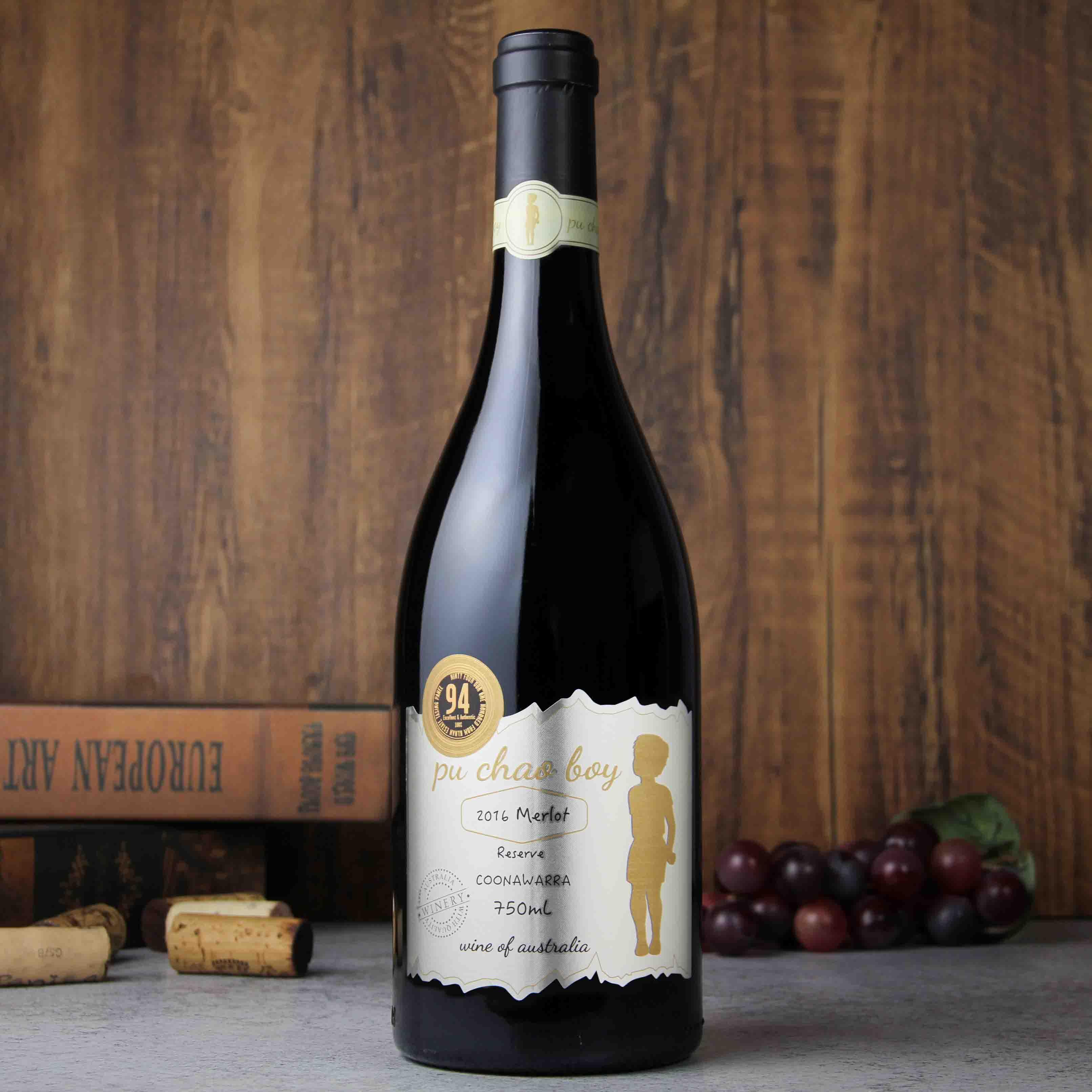 澳大利亚库纳瓦拉老男孩金牌梅洛红葡萄酒