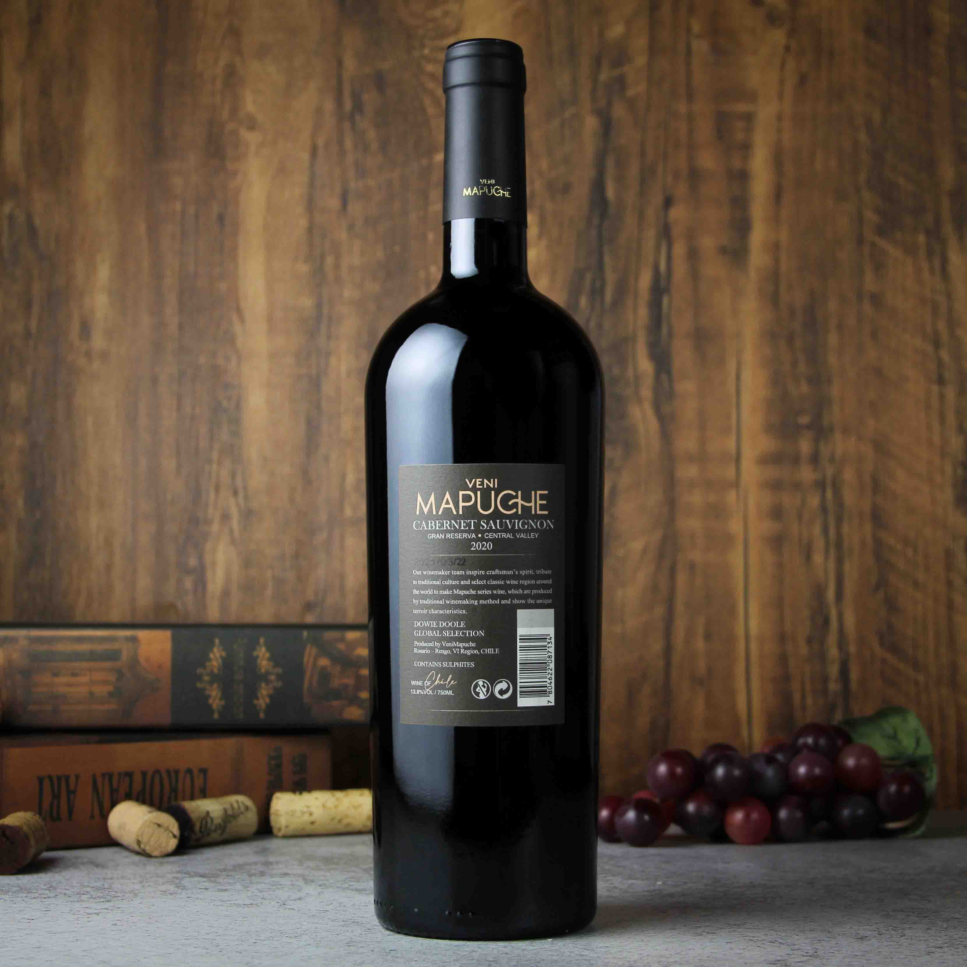 智利中央山谷都度酒庄马普切神树珍藏赤霞珠红葡萄酒红酒