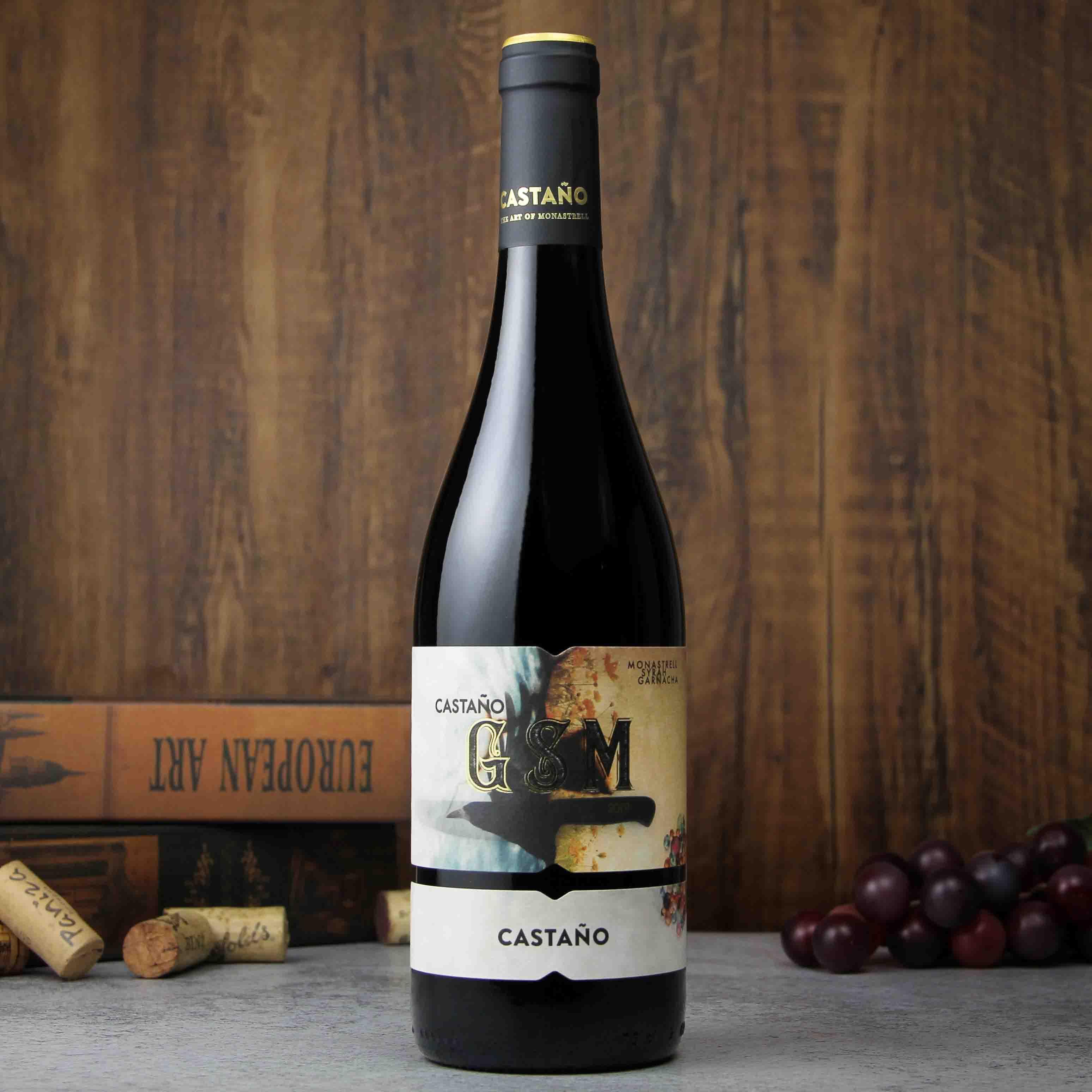 卡斯塔诺gsm干型葡萄酒