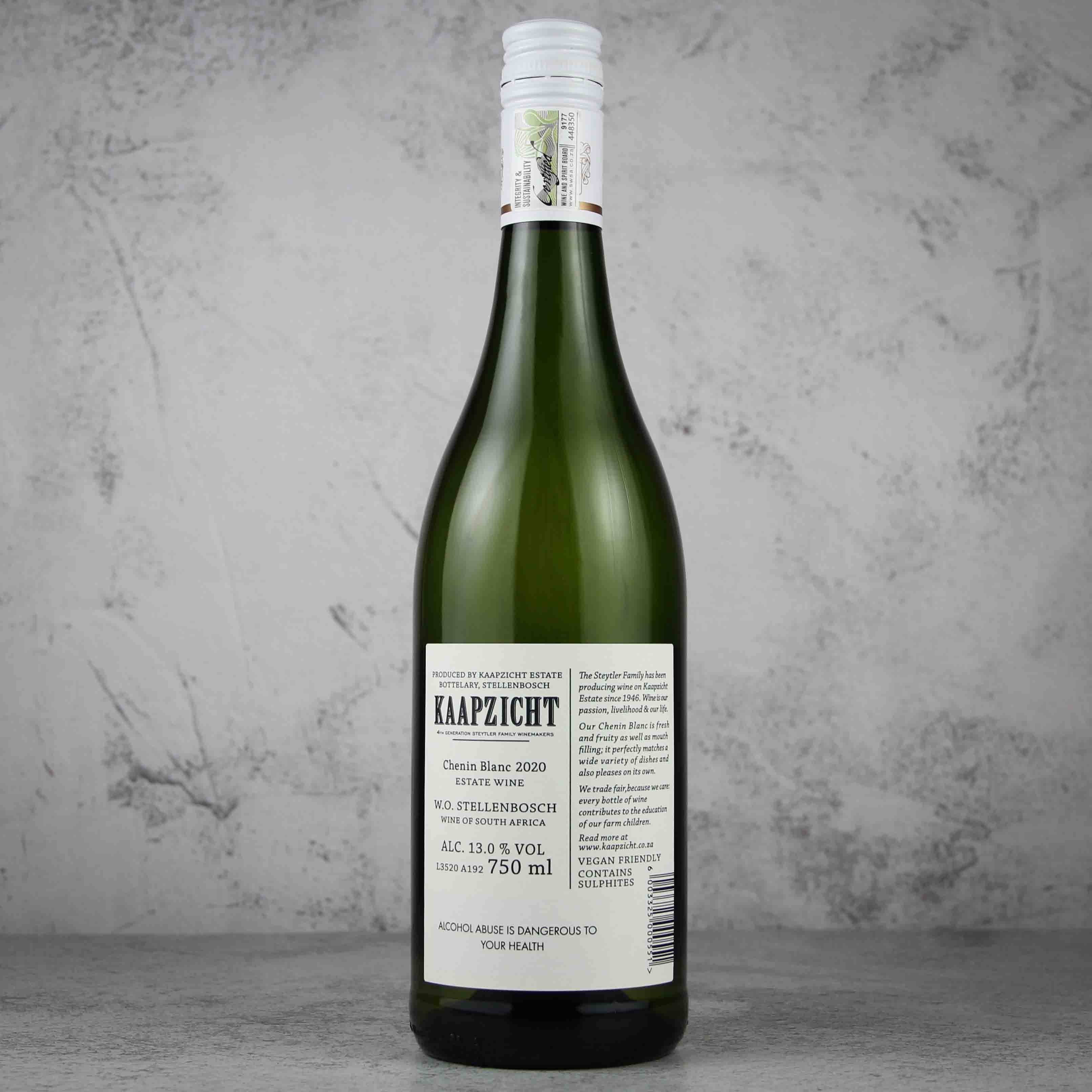 南非斯泰伦博斯桌山庄园白诗南白葡萄酒