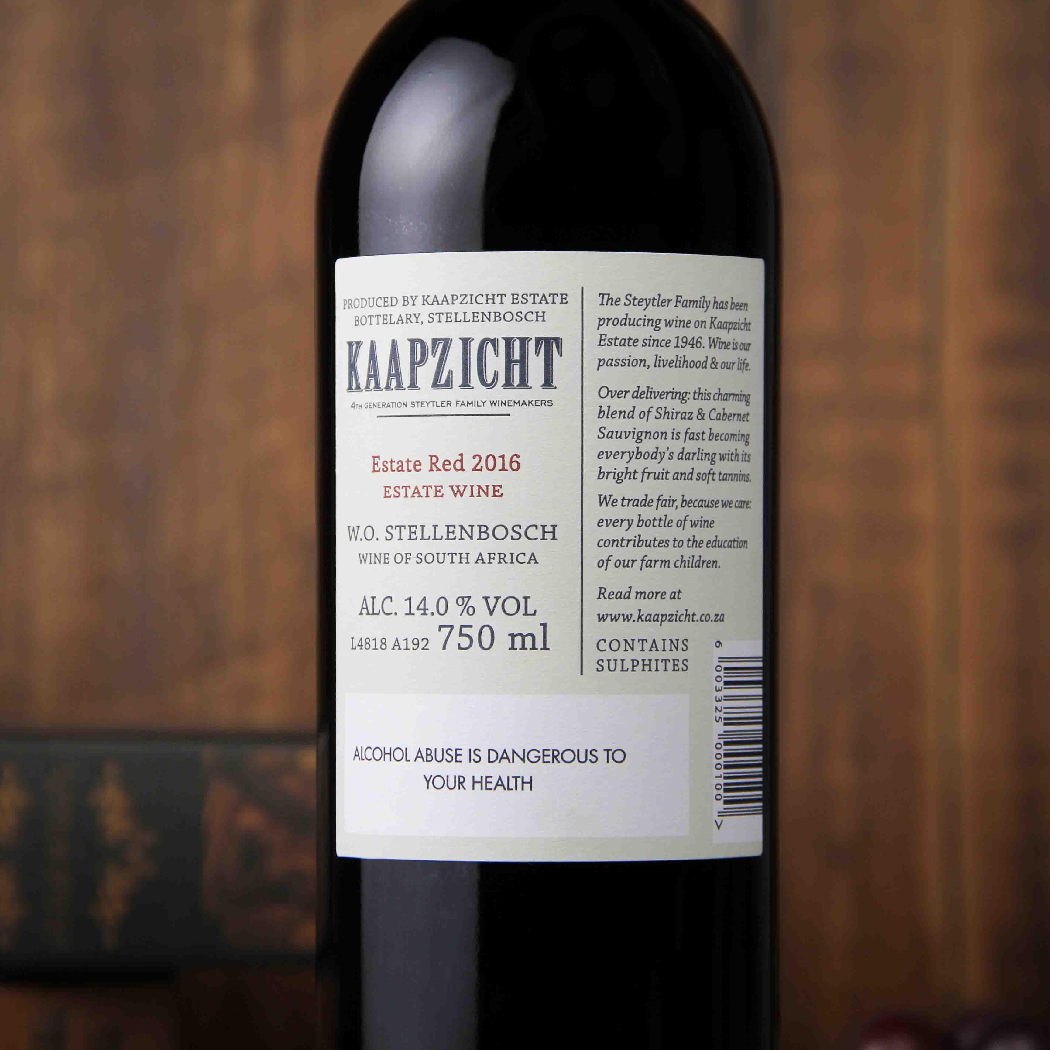 南非斯泰伦博斯桌山庄园红葡萄酒红酒