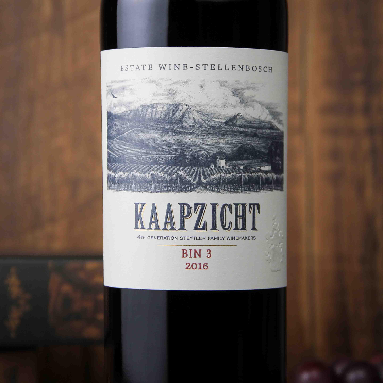 南非斯泰伦博斯桌山宾3红葡萄酒红酒