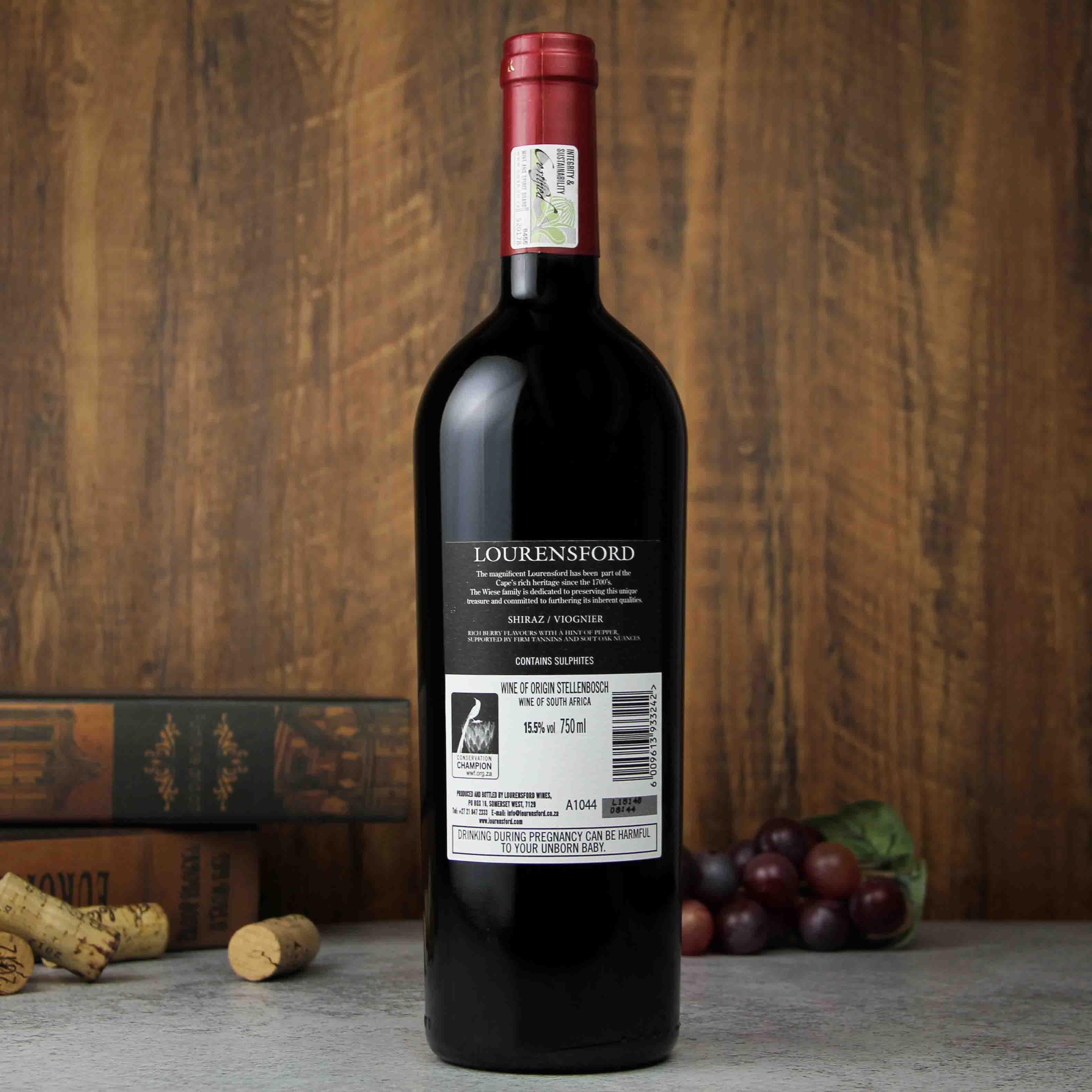 南非斯泰伦博斯劳伦斯堡西拉子维奥涅尔红葡萄酒红酒