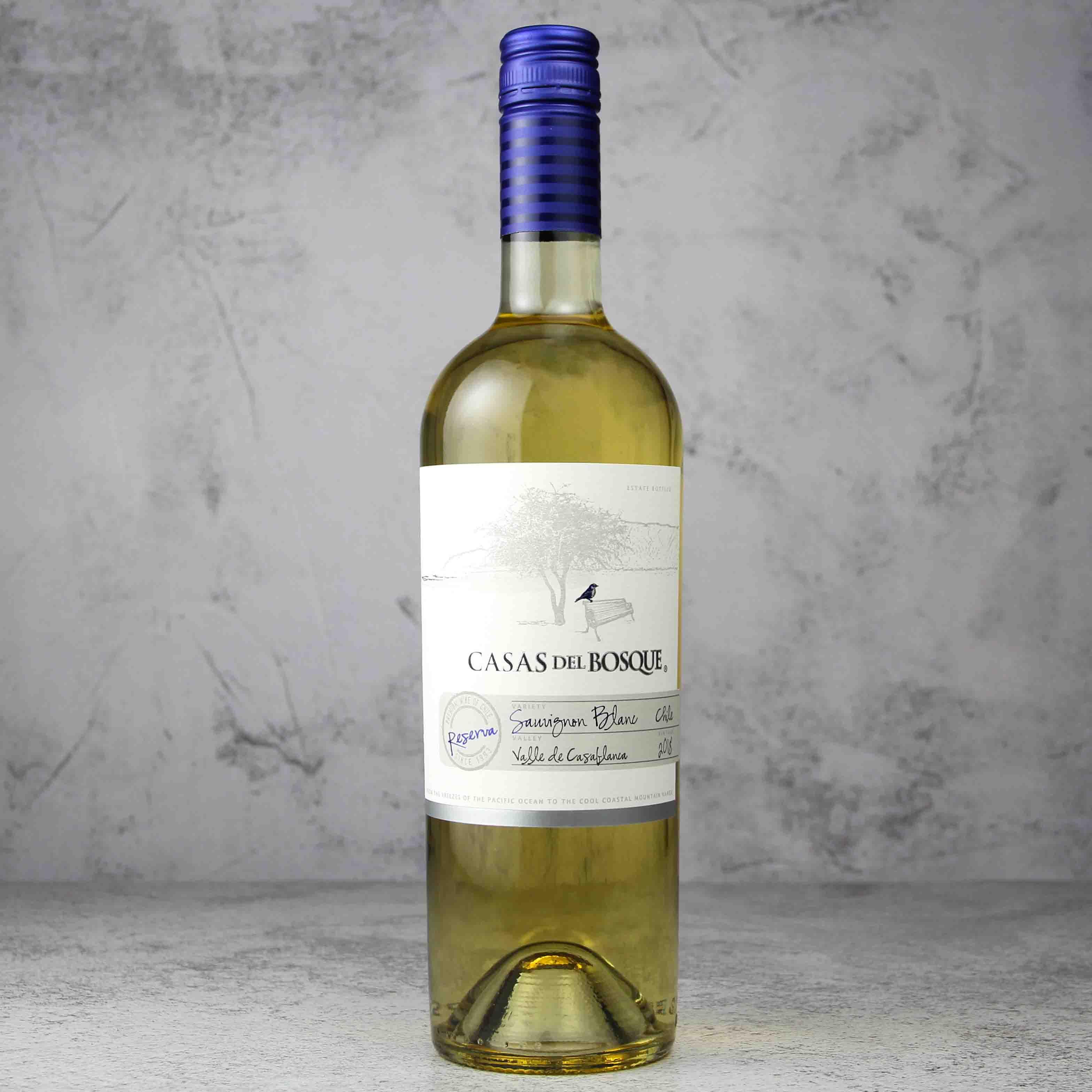 智利卡萨布兰谷萨伯斯克珍藏长相思白葡萄酒
