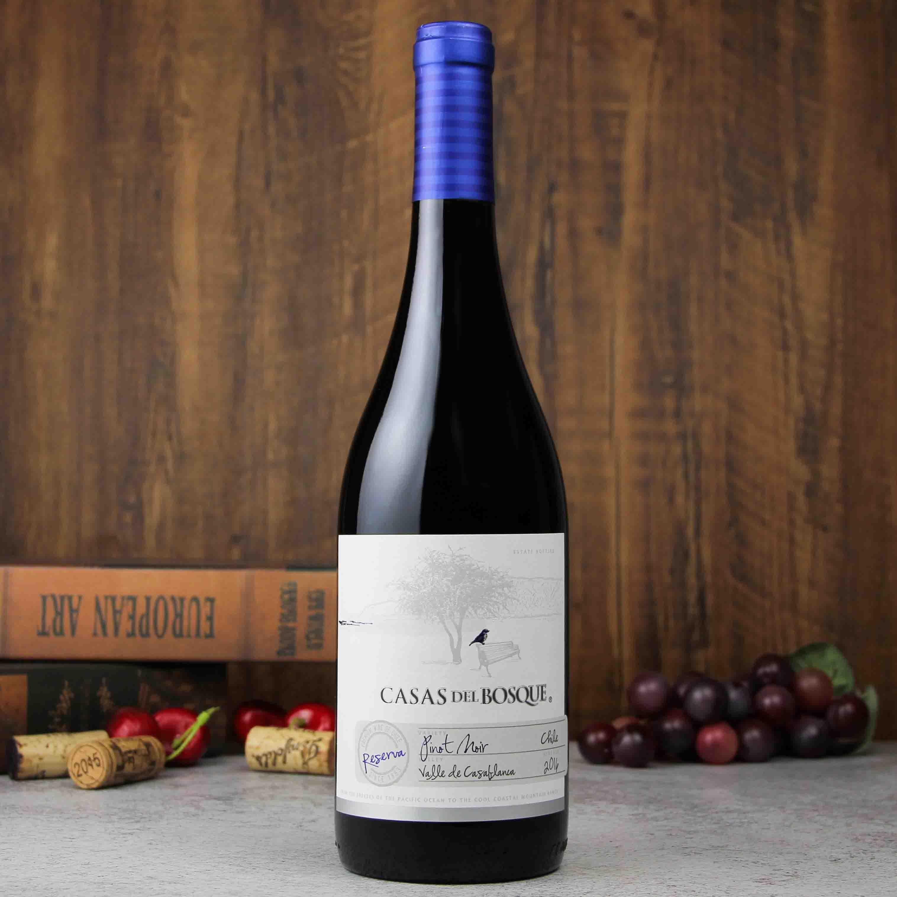 智利卡萨布兰谷卡萨伯斯克珍藏黑皮诺红葡萄酒红酒