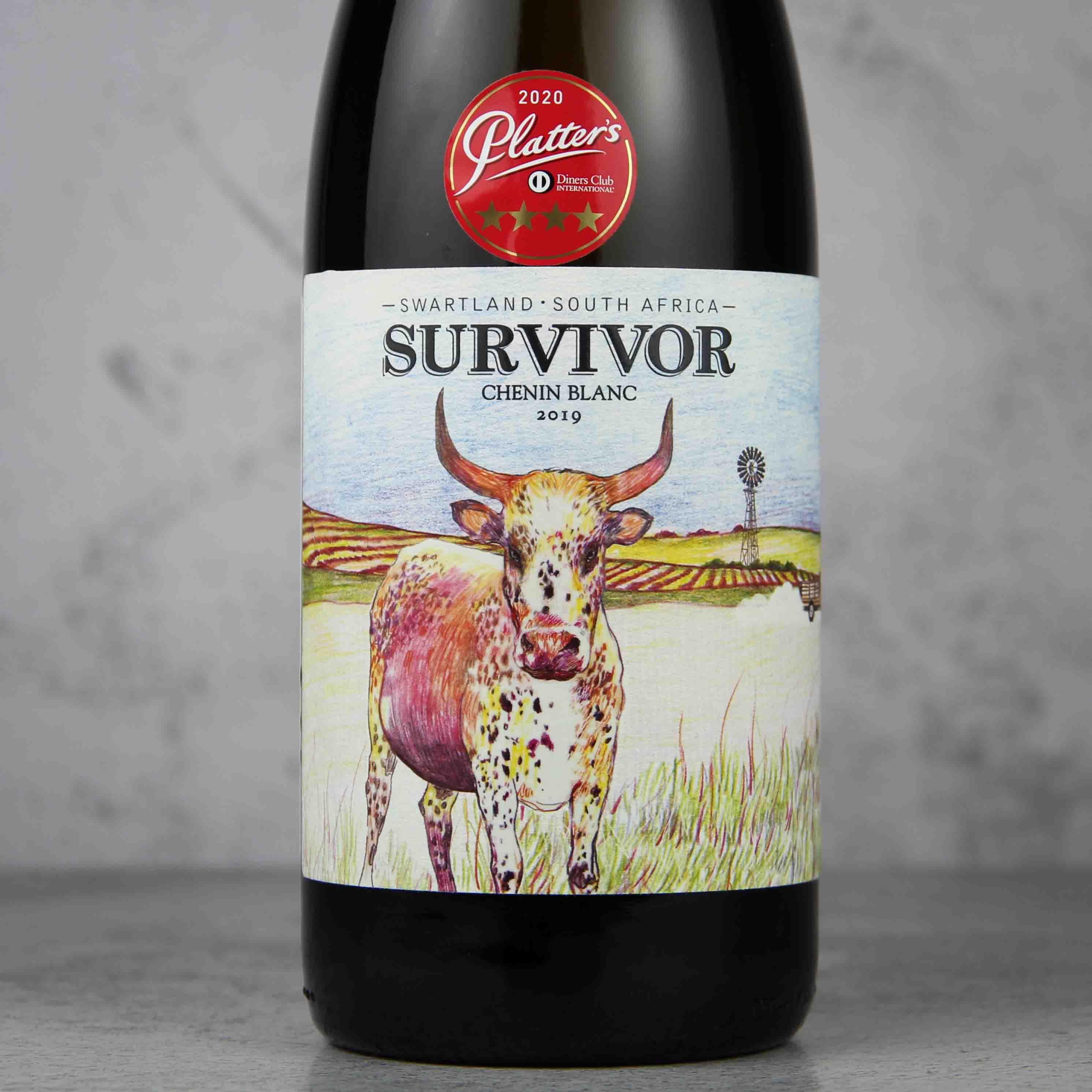 南非幸存者·大牛白诗南干白葡萄酒
