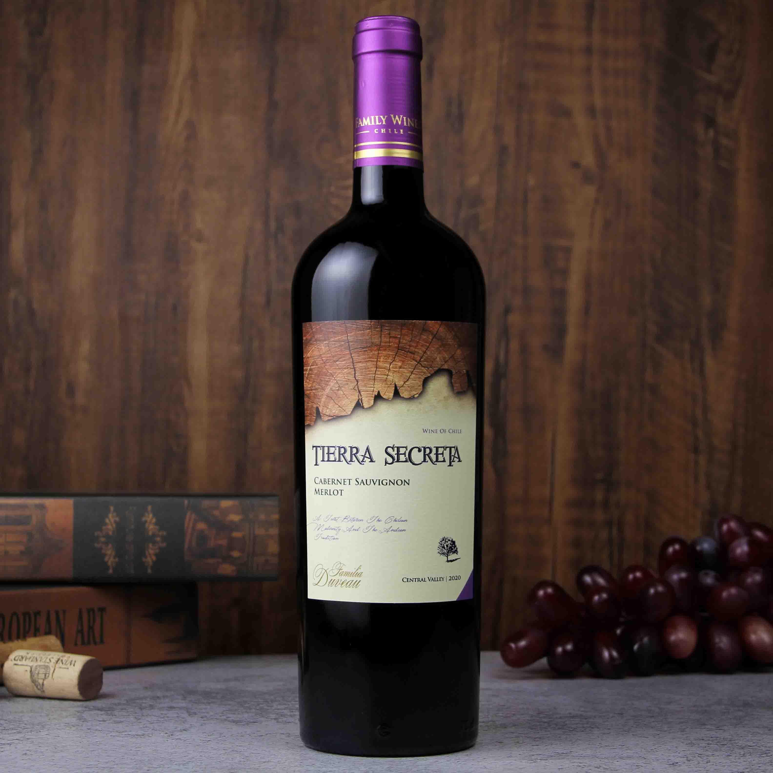 智利中央山谷秘壤赤霞珠美乐葡萄酒红酒