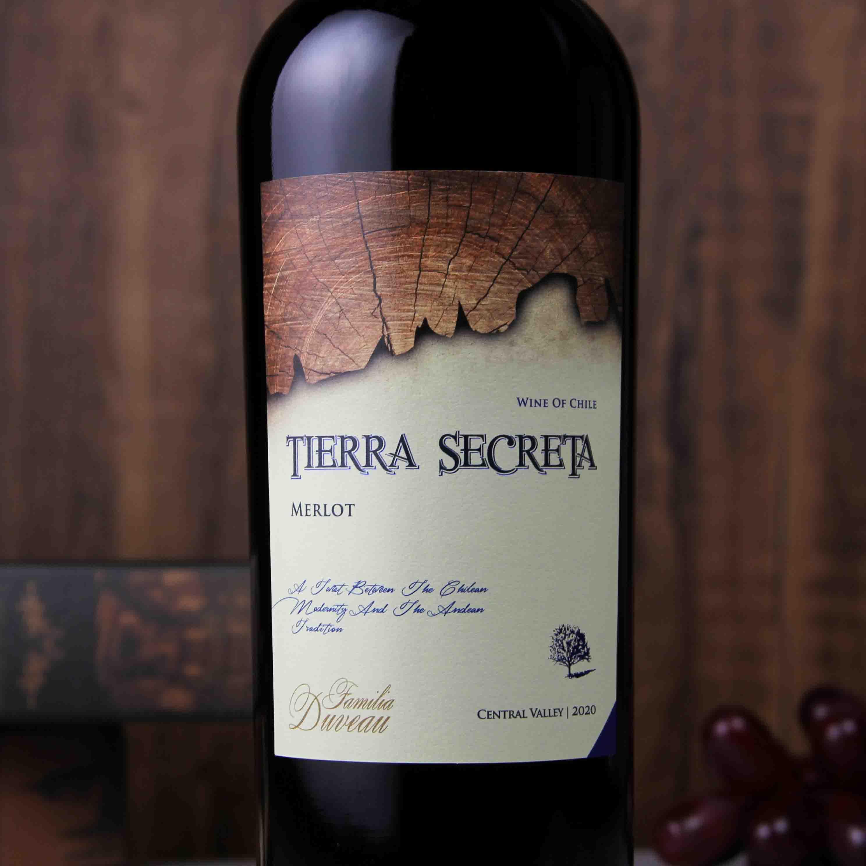 智利中央山谷秘壤美乐红葡萄酒红酒