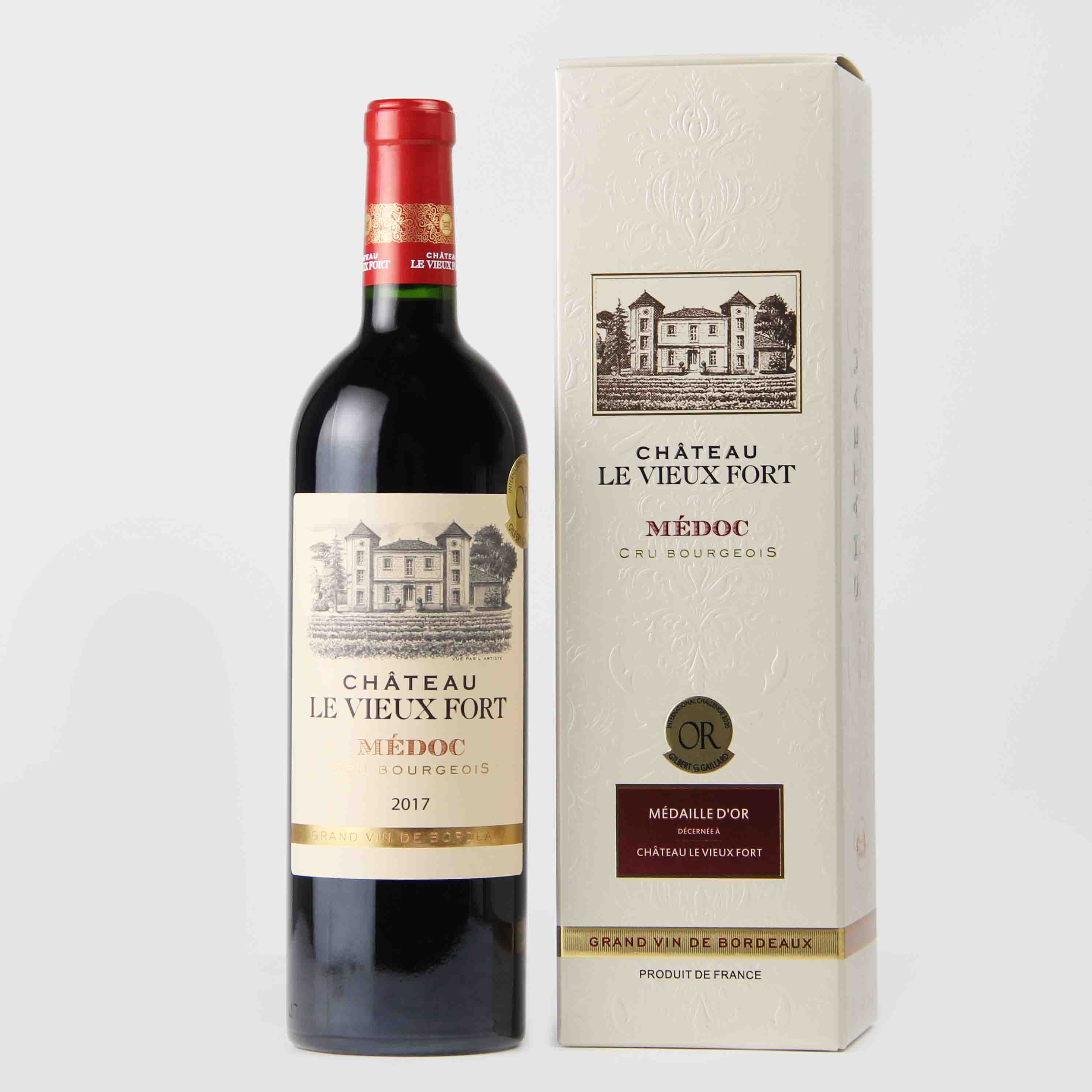 法国波尔多乐薇富梅多克中级庄AOP干红葡萄酒红酒