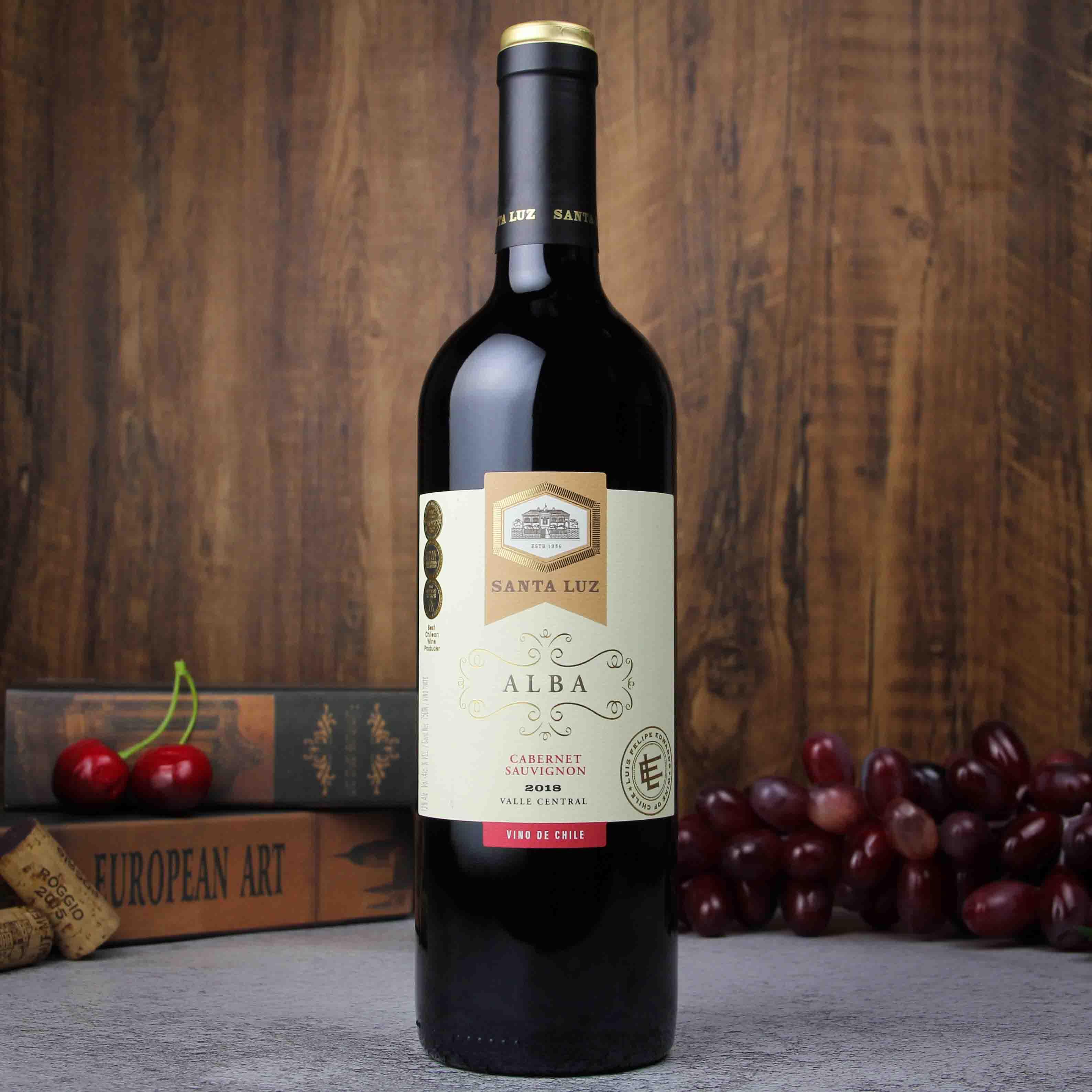 智利中央山谷桑塔露琪优选赤霞珠干红葡萄酒750ml