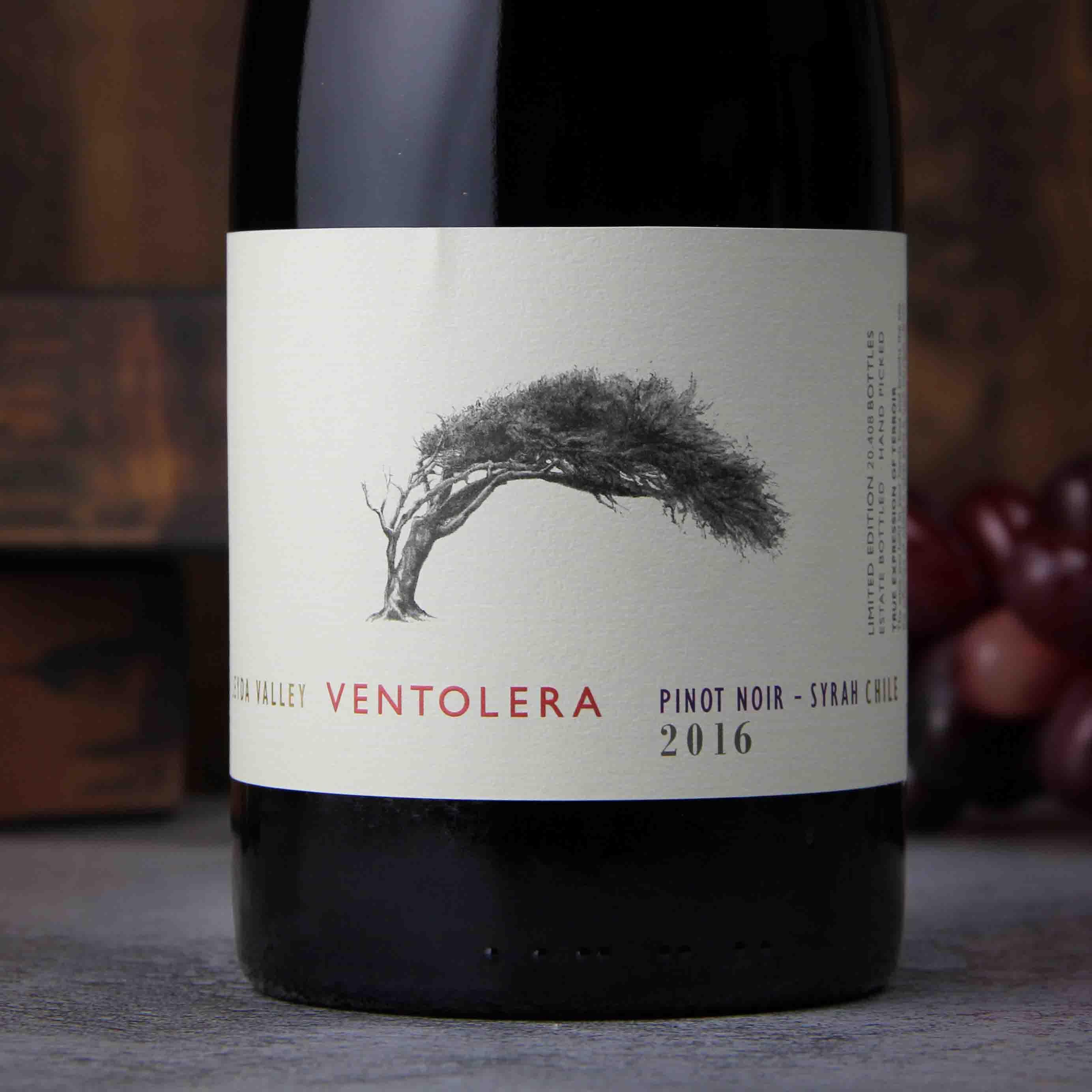 智利莱达山谷文特莱拉黑皮诺西拉干红葡萄酒
