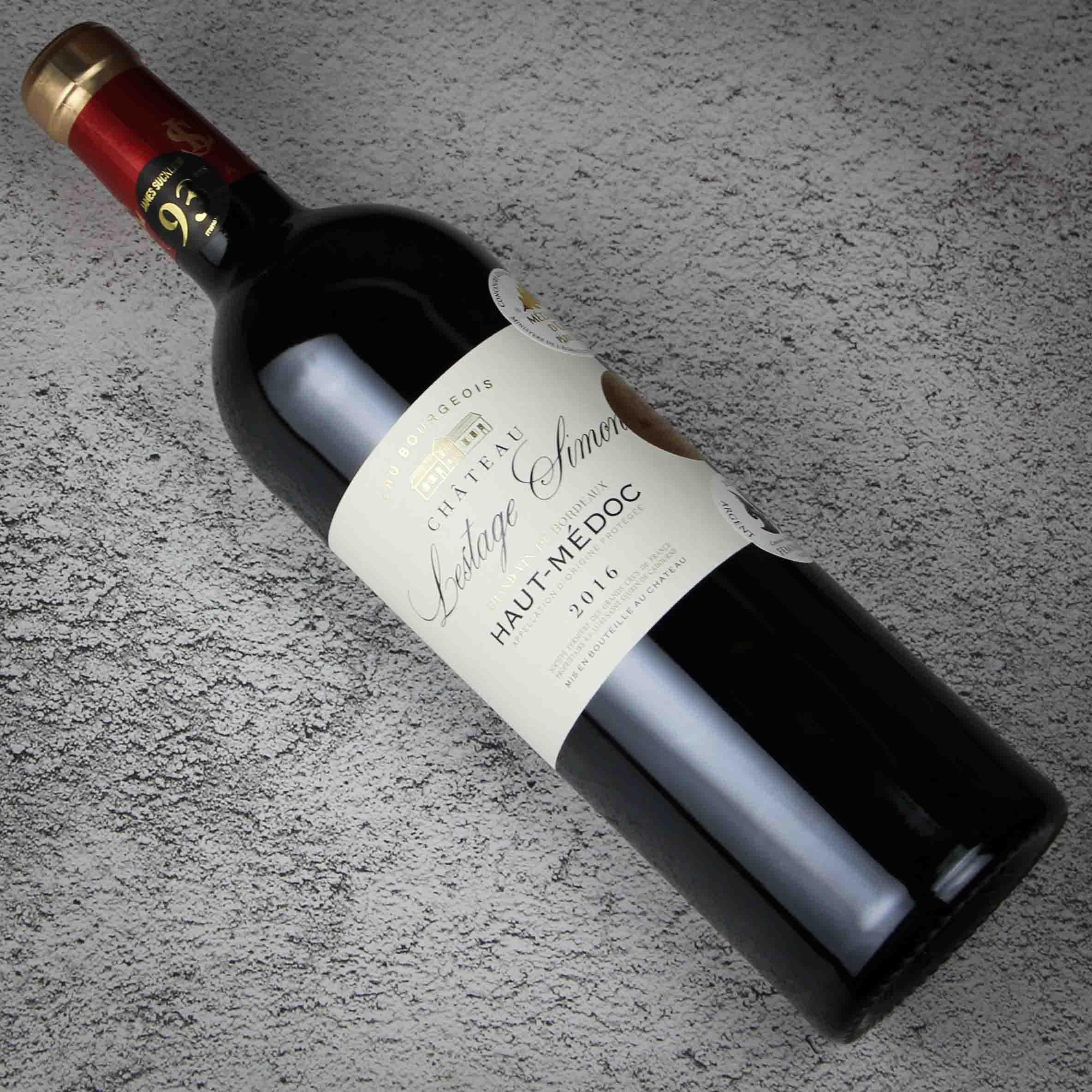 法国波尔多西蒙酒庄上梅多克中级庄AOP干红葡萄酒