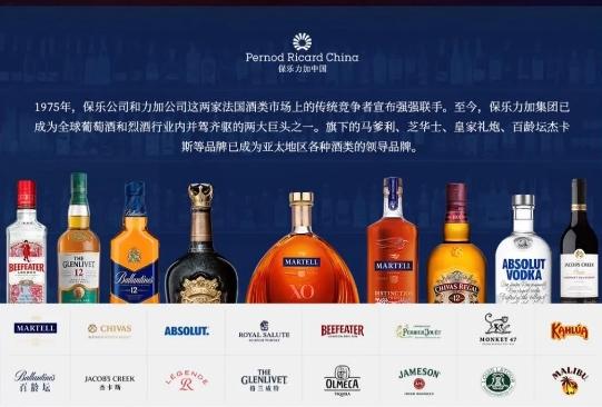 法国烈酒巨头保乐力加公布2021财年销售业绩